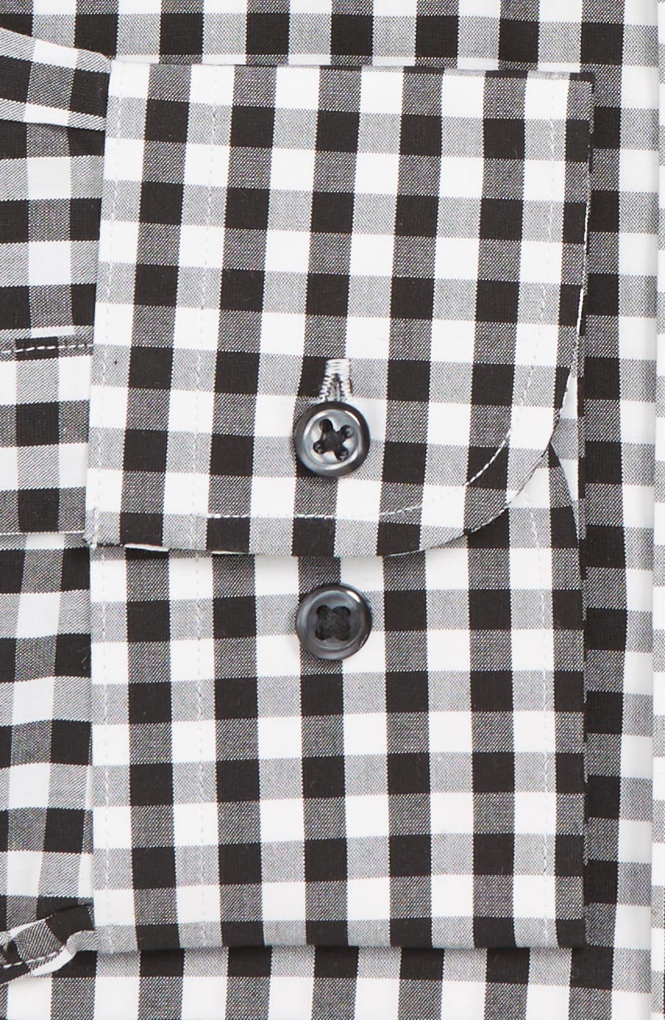 Tech-Smart Traditional Fit Stretch Check Dress Shirt,                             Alternate thumbnail 2, color,                             BLACK ROCK