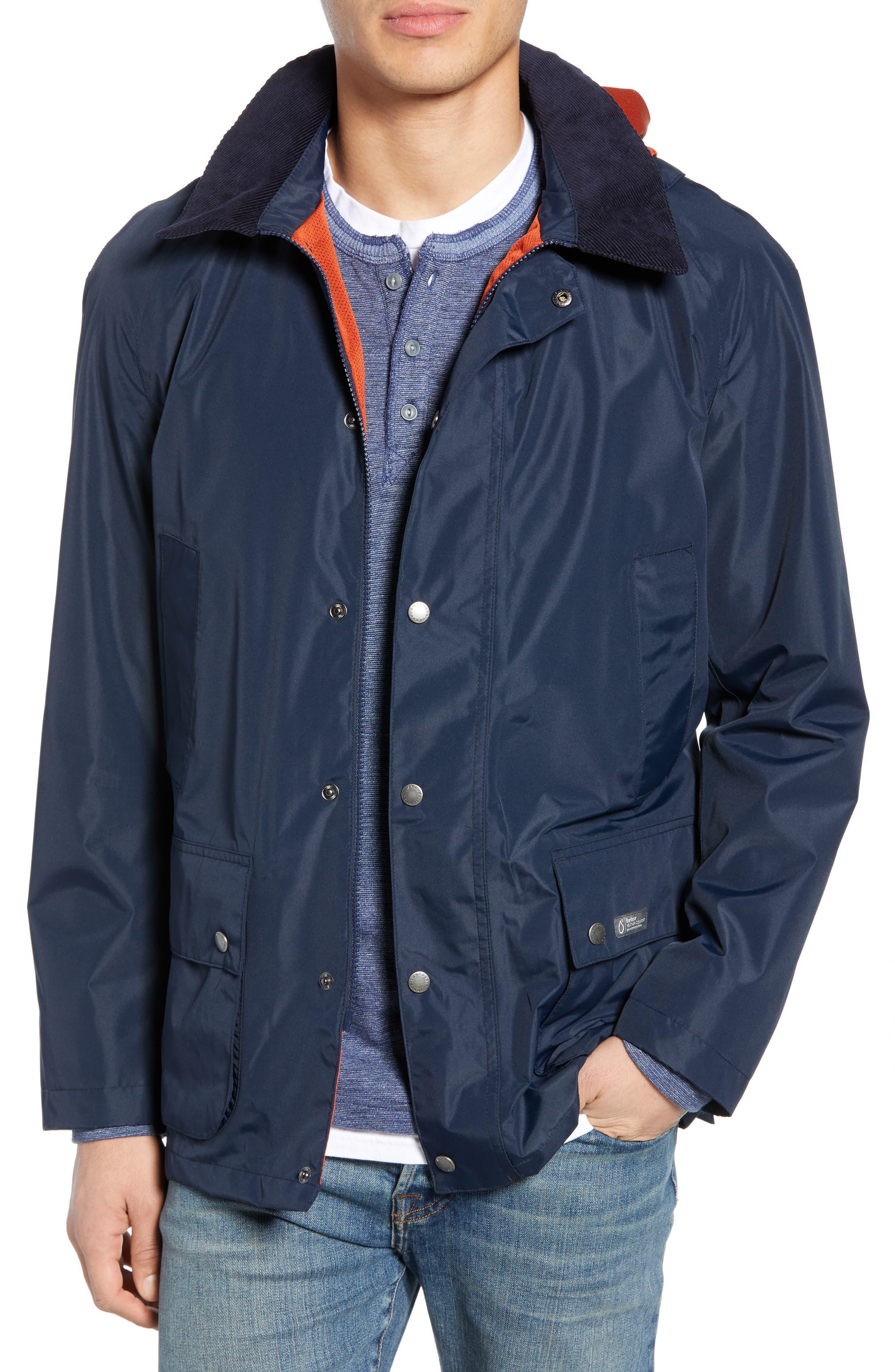 Barbour Arlington Waterproof Hooded Jacket, Blue