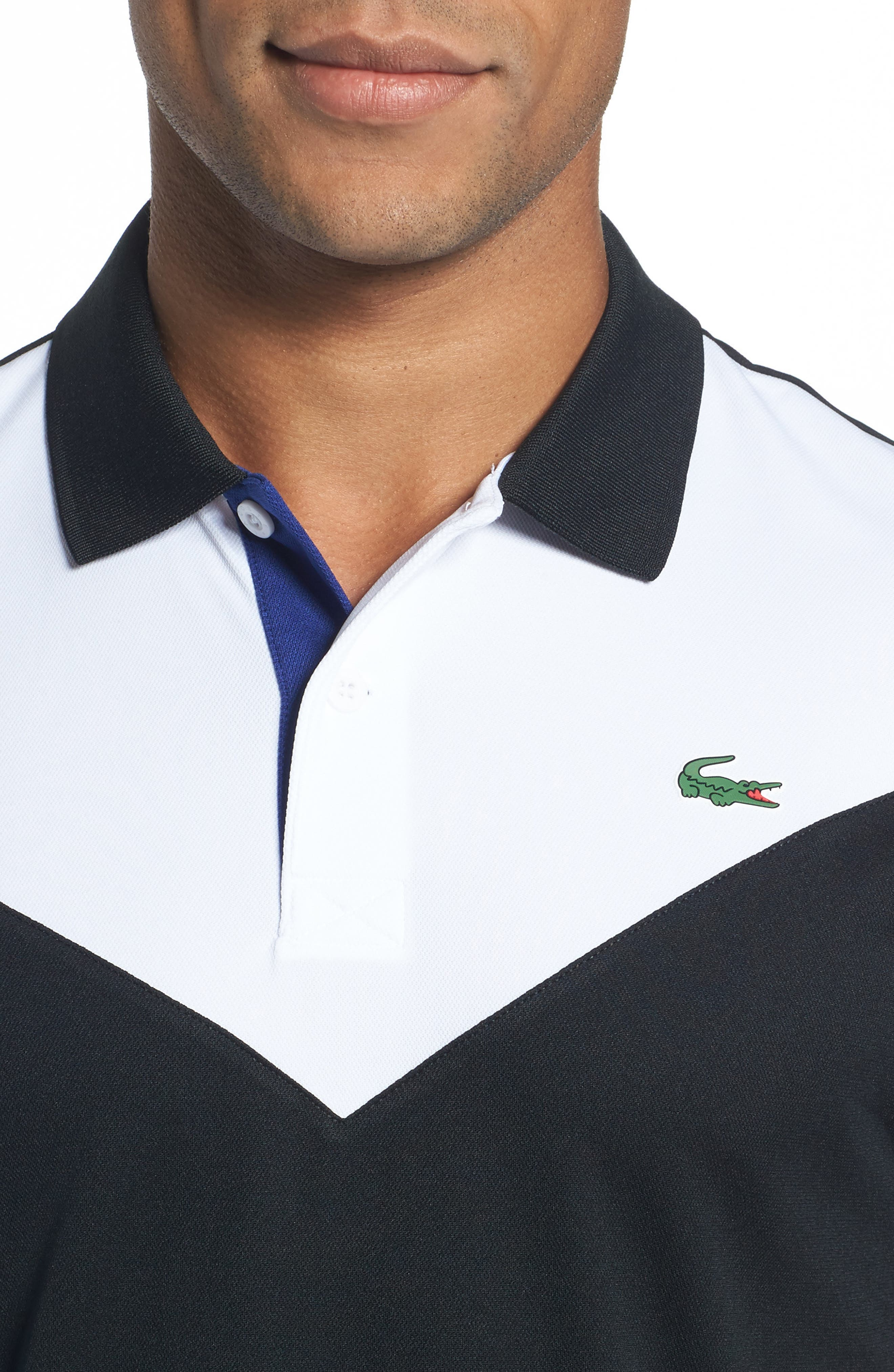 Ultra Dry Chevron Polo,                             Alternate thumbnail 4, color,                             006