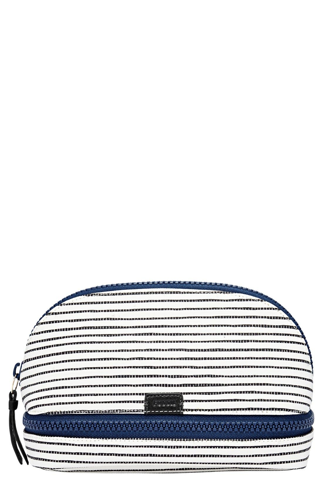FOSSIL,                             Cosmetics Case,                             Main thumbnail 1, color,                             001