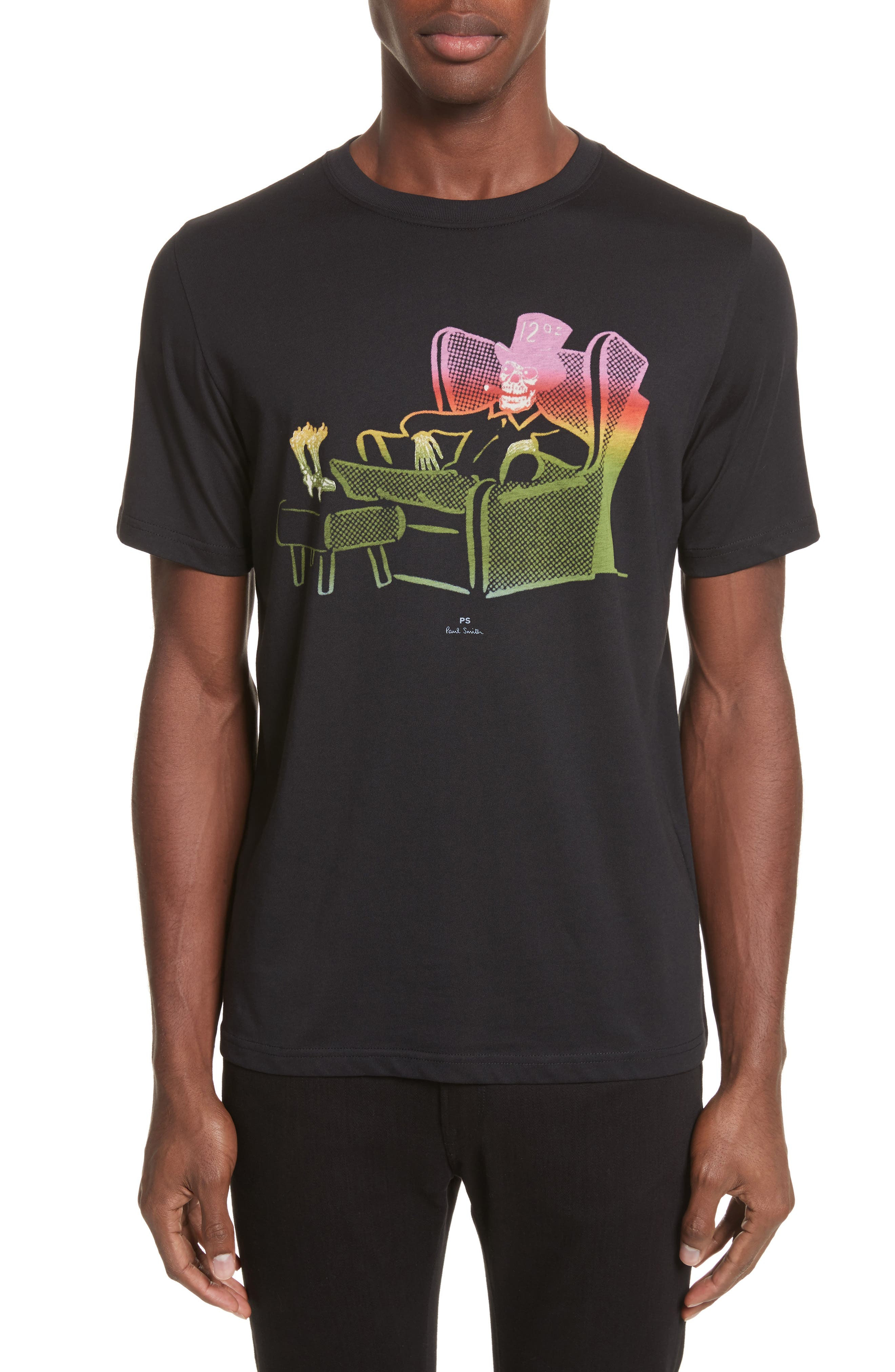 12oz Skeleton Graphic T-Shirt,                         Main,                         color, 001