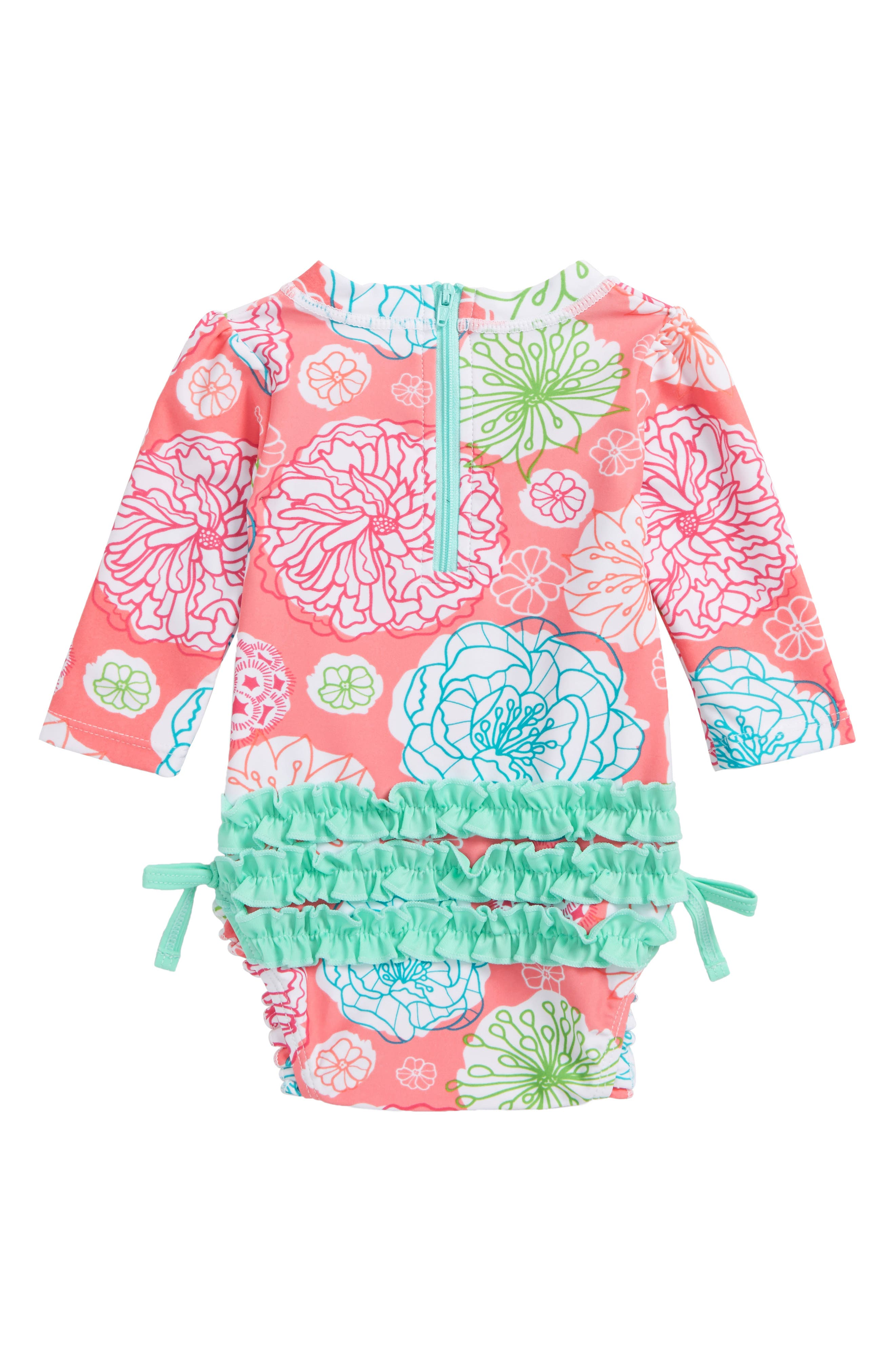 Tropical Garden One-Piece Rashguard,                             Alternate thumbnail 2, color,                             650