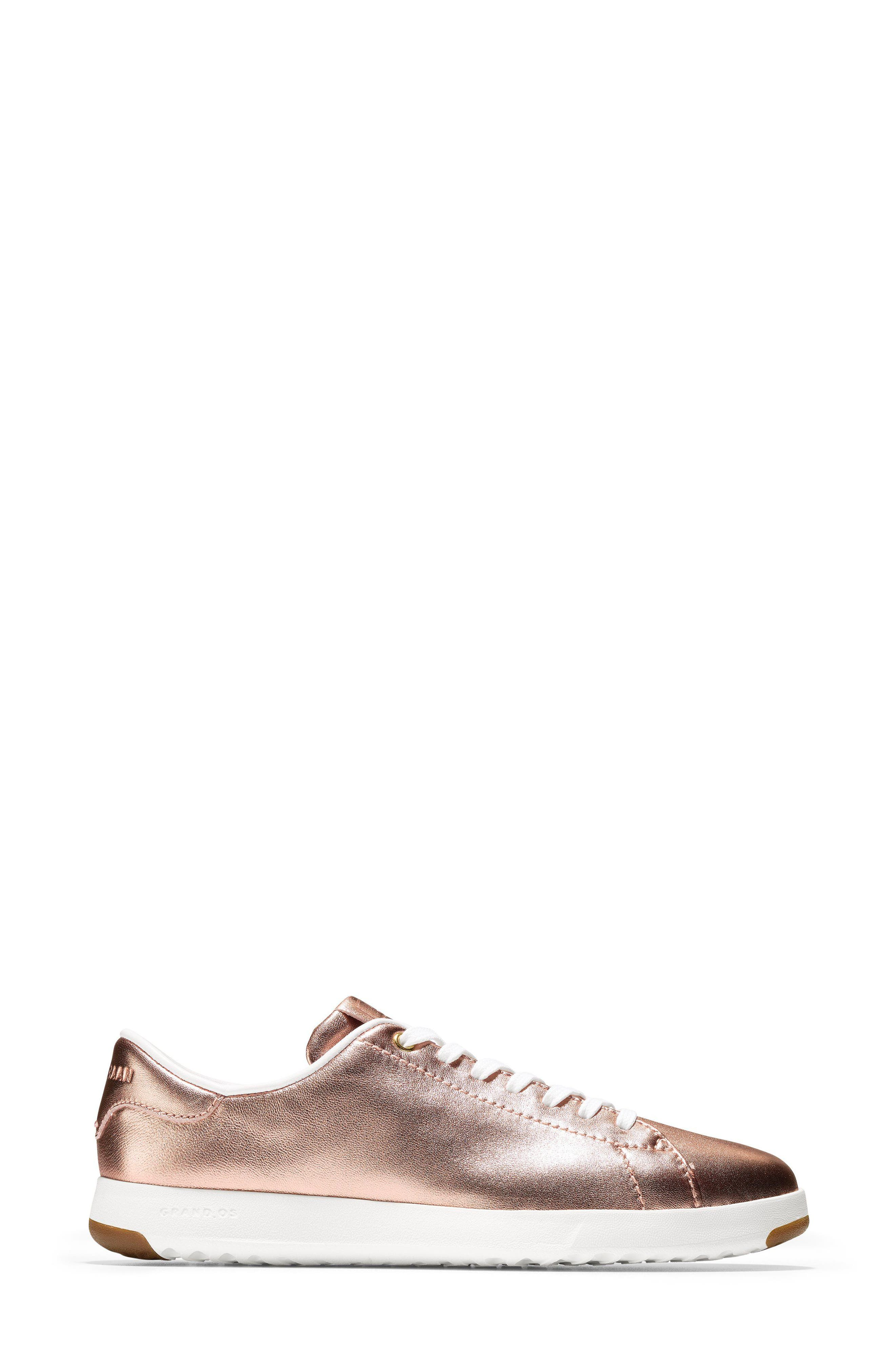 GrandPro Tennis Shoe,                             Alternate thumbnail 3, color,                             ROSE GOLD LEATHER