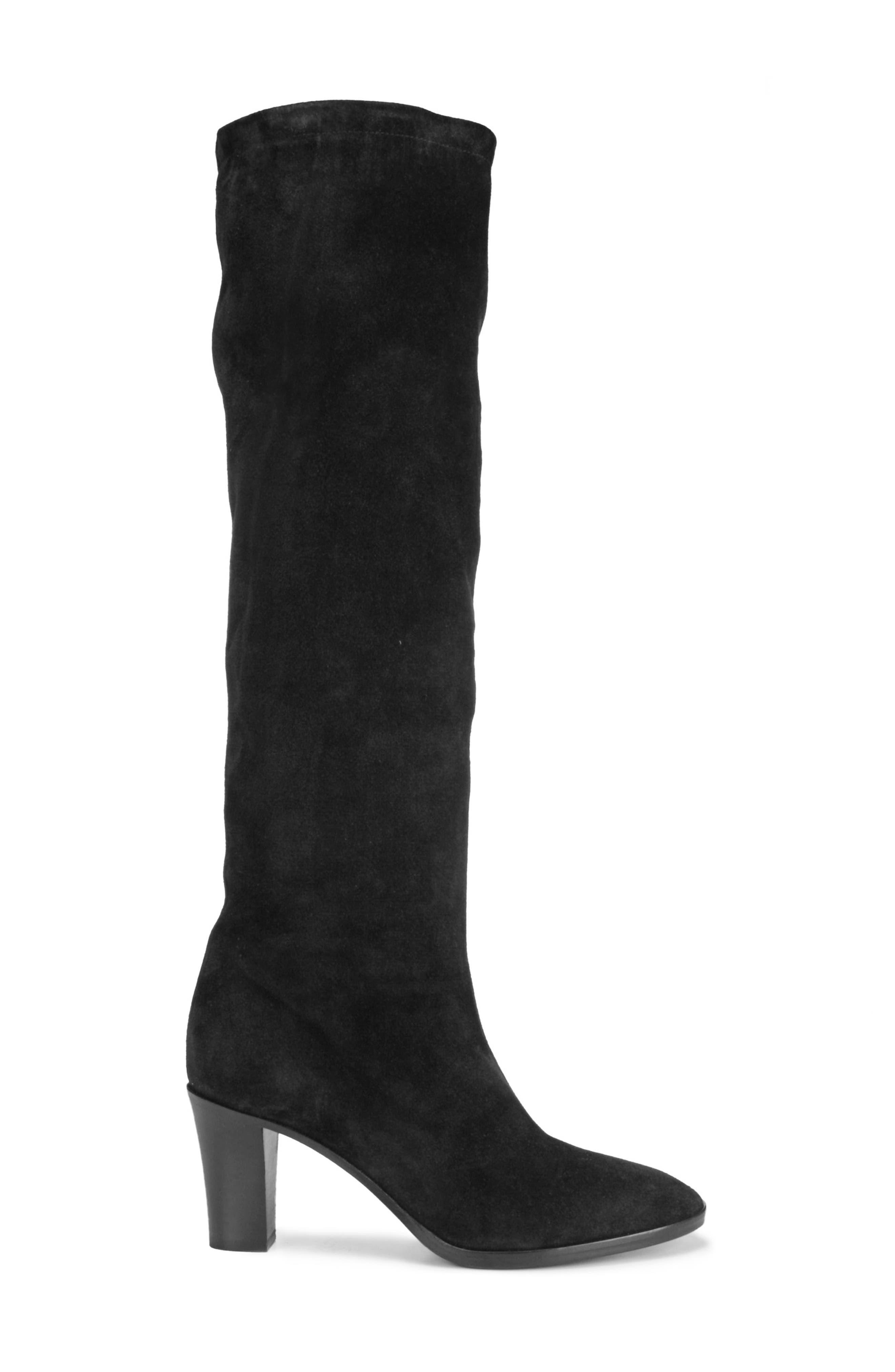 Casper Knee High Pull-On Boot,                             Alternate thumbnail 3, color,                             BLACK