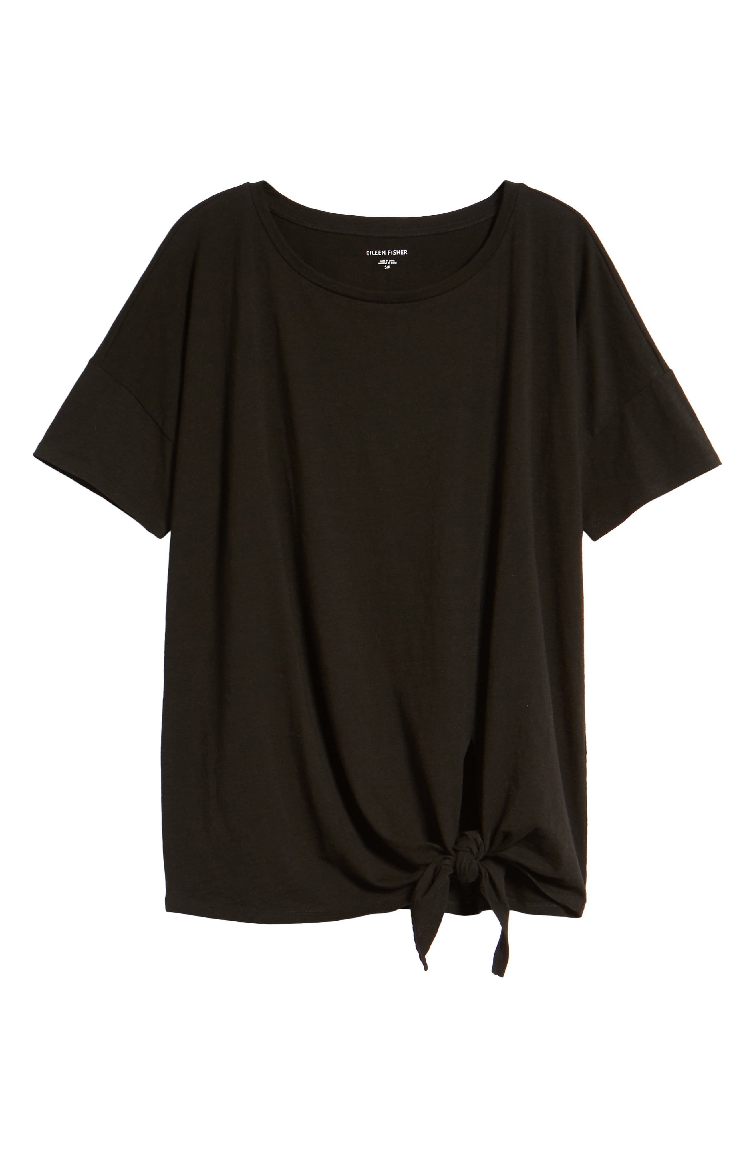 Tie Hem Organic Cotton Tee,                             Alternate thumbnail 27, color,