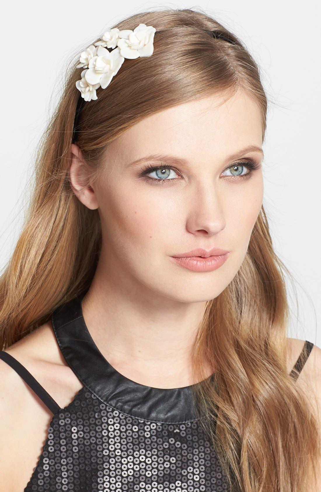 'Giverny Rose' Headband,                             Main thumbnail 3, color,