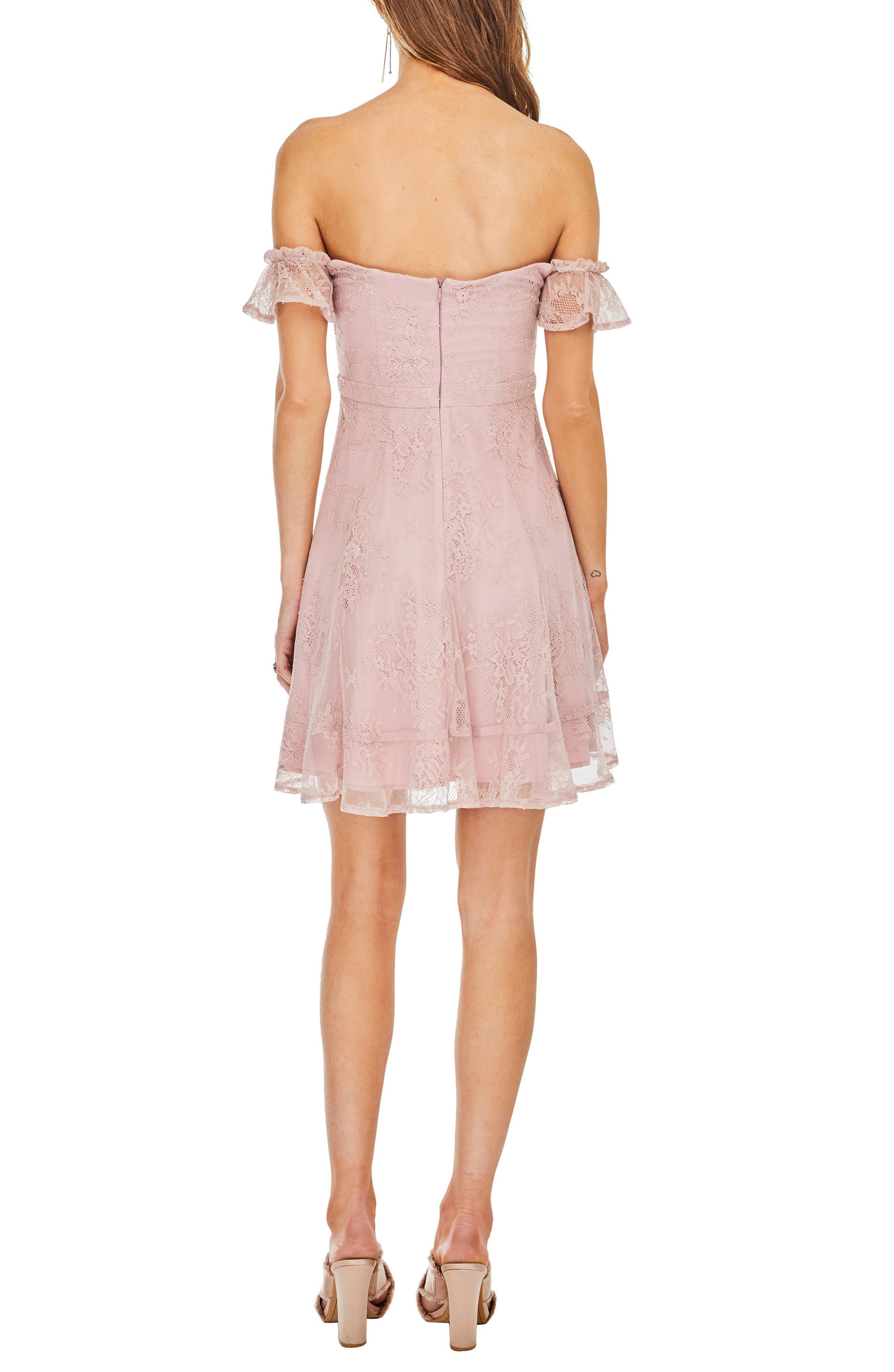 Poppy Off the Shoulder Dress,                             Alternate thumbnail 2, color,                             650
