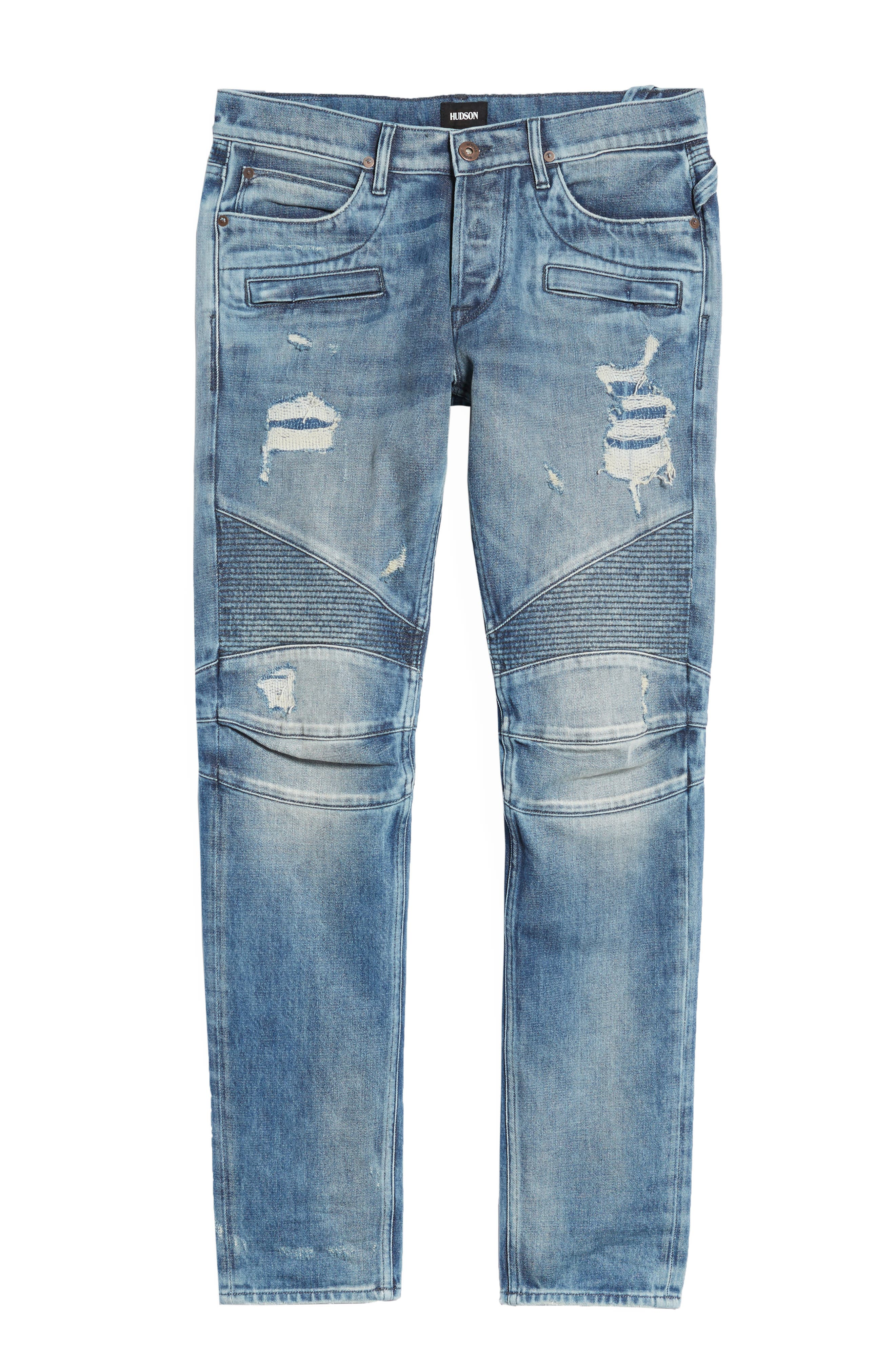 Blinder Biker Skinny Fit Jeans,                             Alternate thumbnail 6, color,                             CHOPPER
