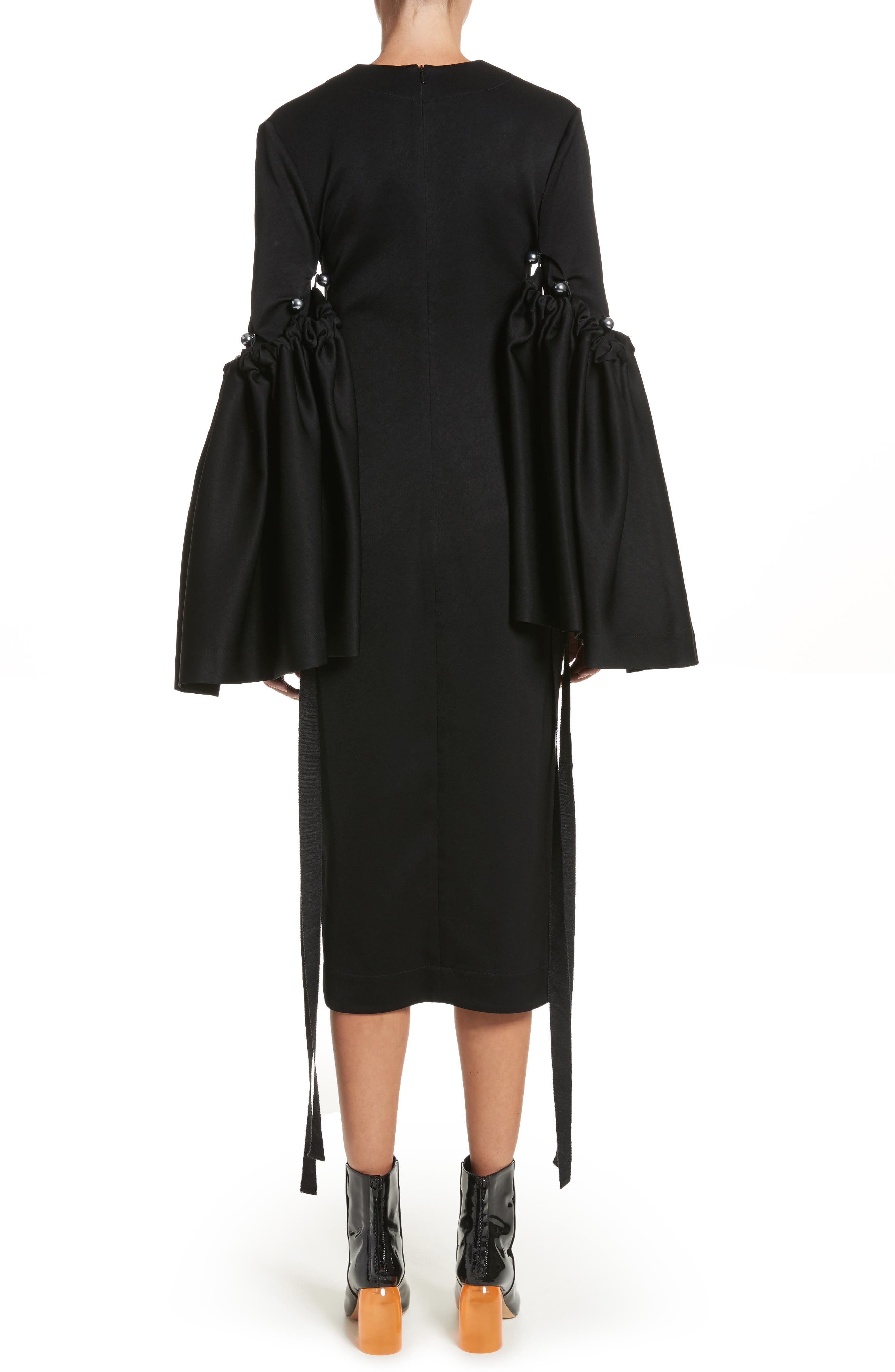 Adage Detachable Bell Sleeve Dress,                             Alternate thumbnail 2, color,                             001