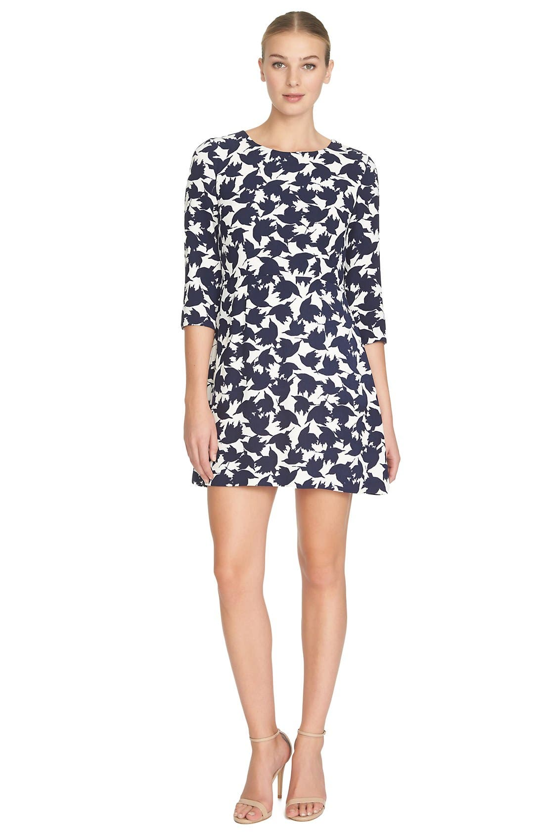 by Cynthia Steffe 'Willow' Bird Print Dress,                             Alternate thumbnail 3, color,                             908