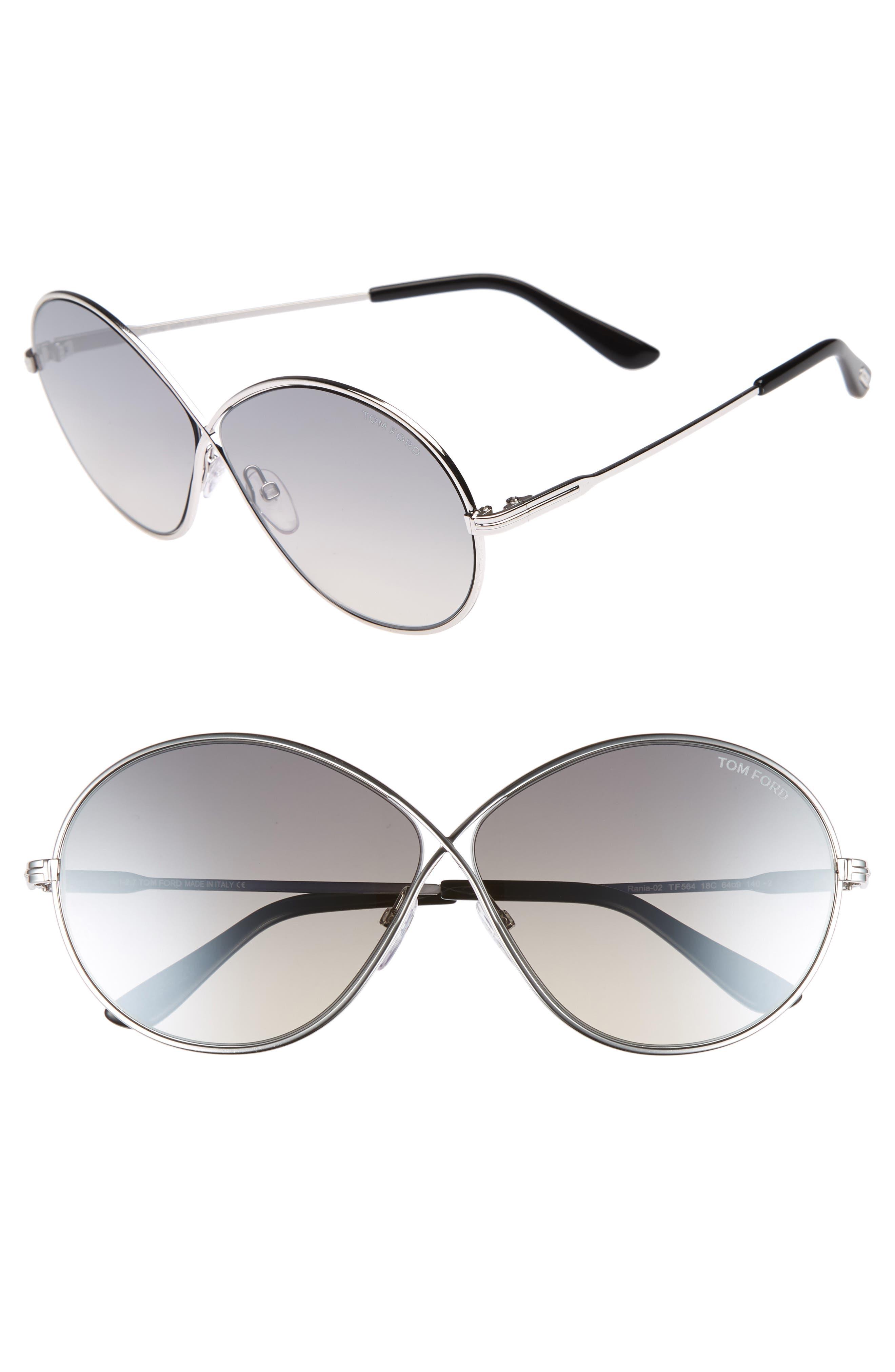 Rania 64mm Oversize Round Sunglasses,                             Main thumbnail 1, color,                             040