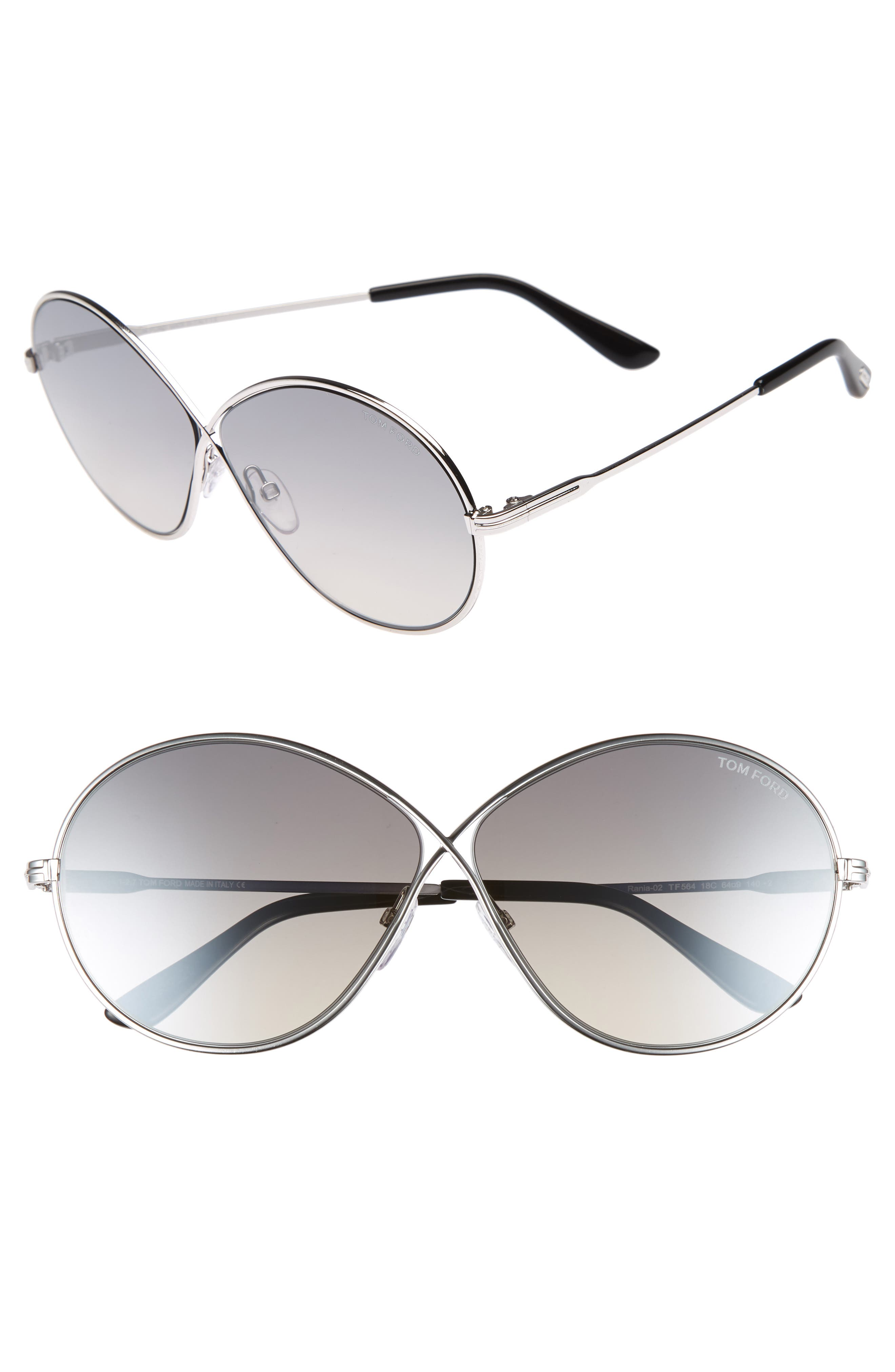 Rania 64mm Oversize Round Sunglasses,                         Main,                         color, 040