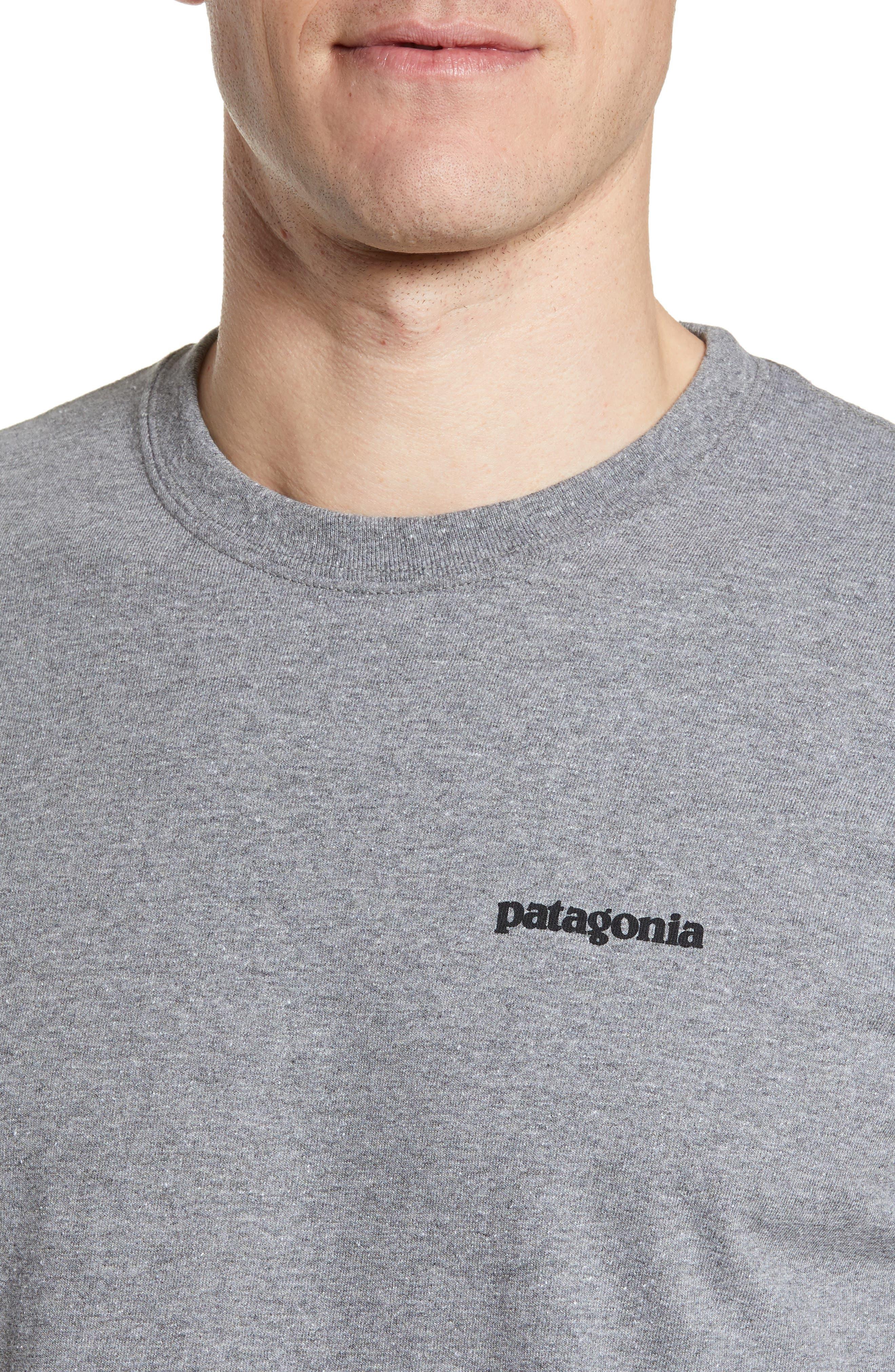 PATAGONIA,                             Fitz Roy Trout Crewneck T-Shirt,                             Alternate thumbnail 4, color,                             GRAVEL HEATHER