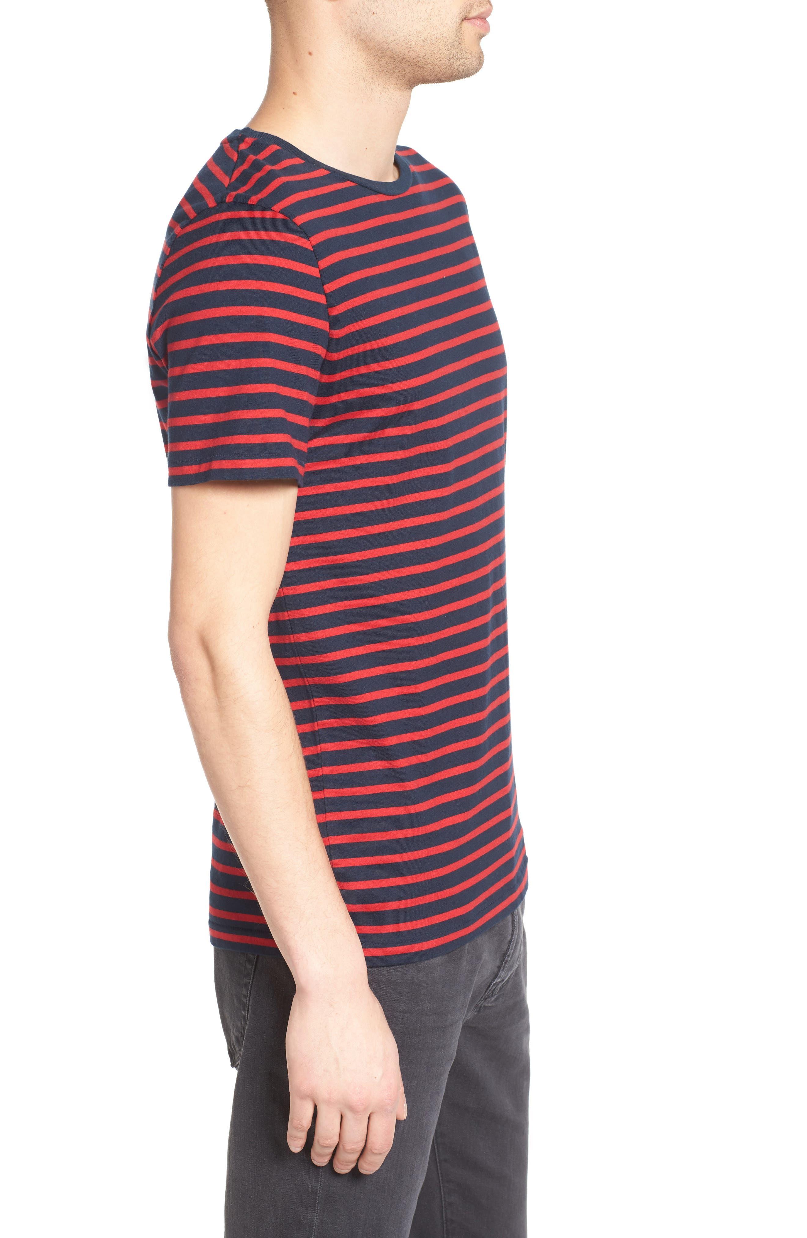 Julian Stripe Crewneck T-Shirt,                             Alternate thumbnail 6, color,