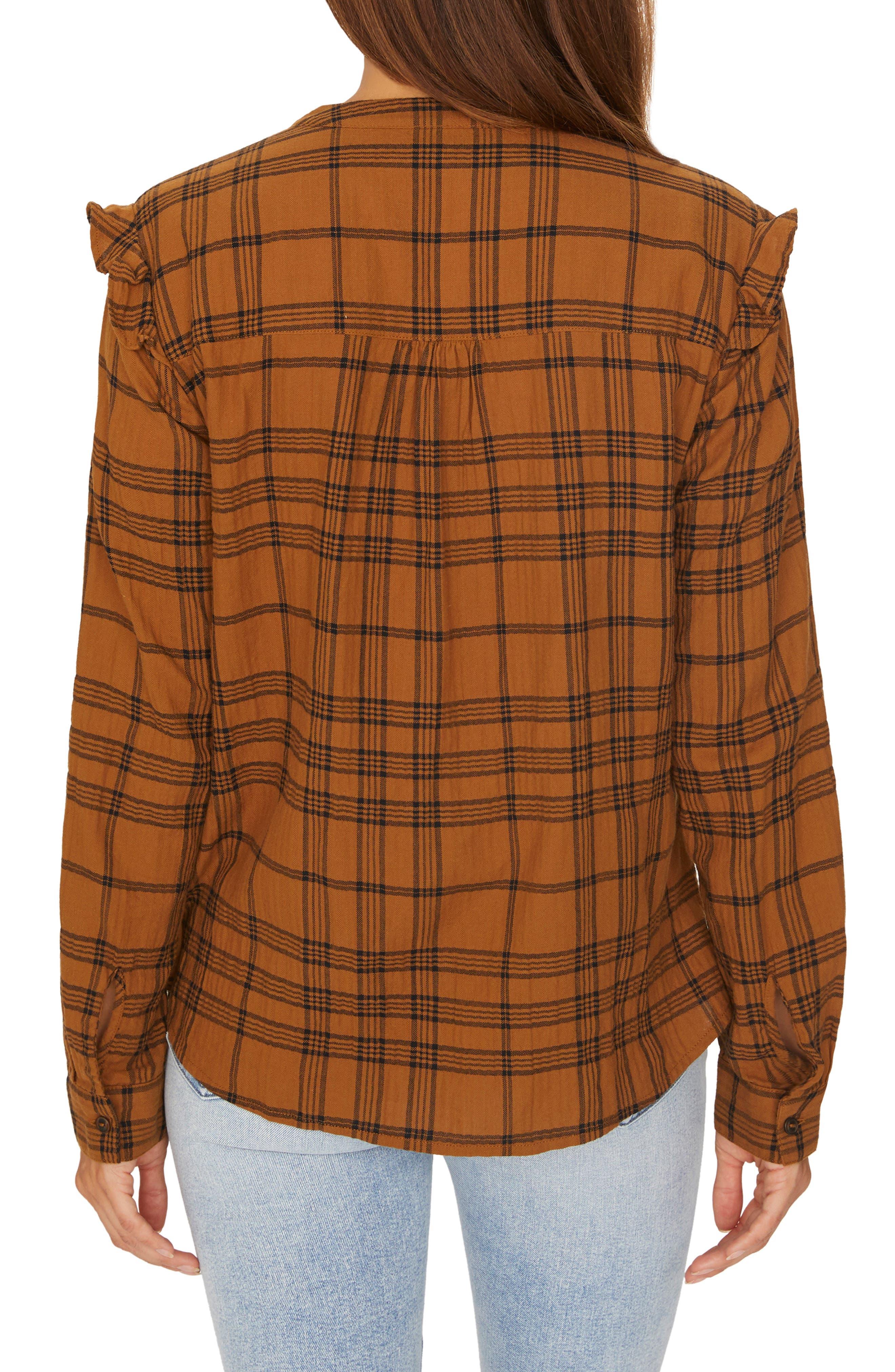 Hill St. Ruffled Plaid Shirt,                             Alternate thumbnail 2, color,                             AUTUMN PLAID