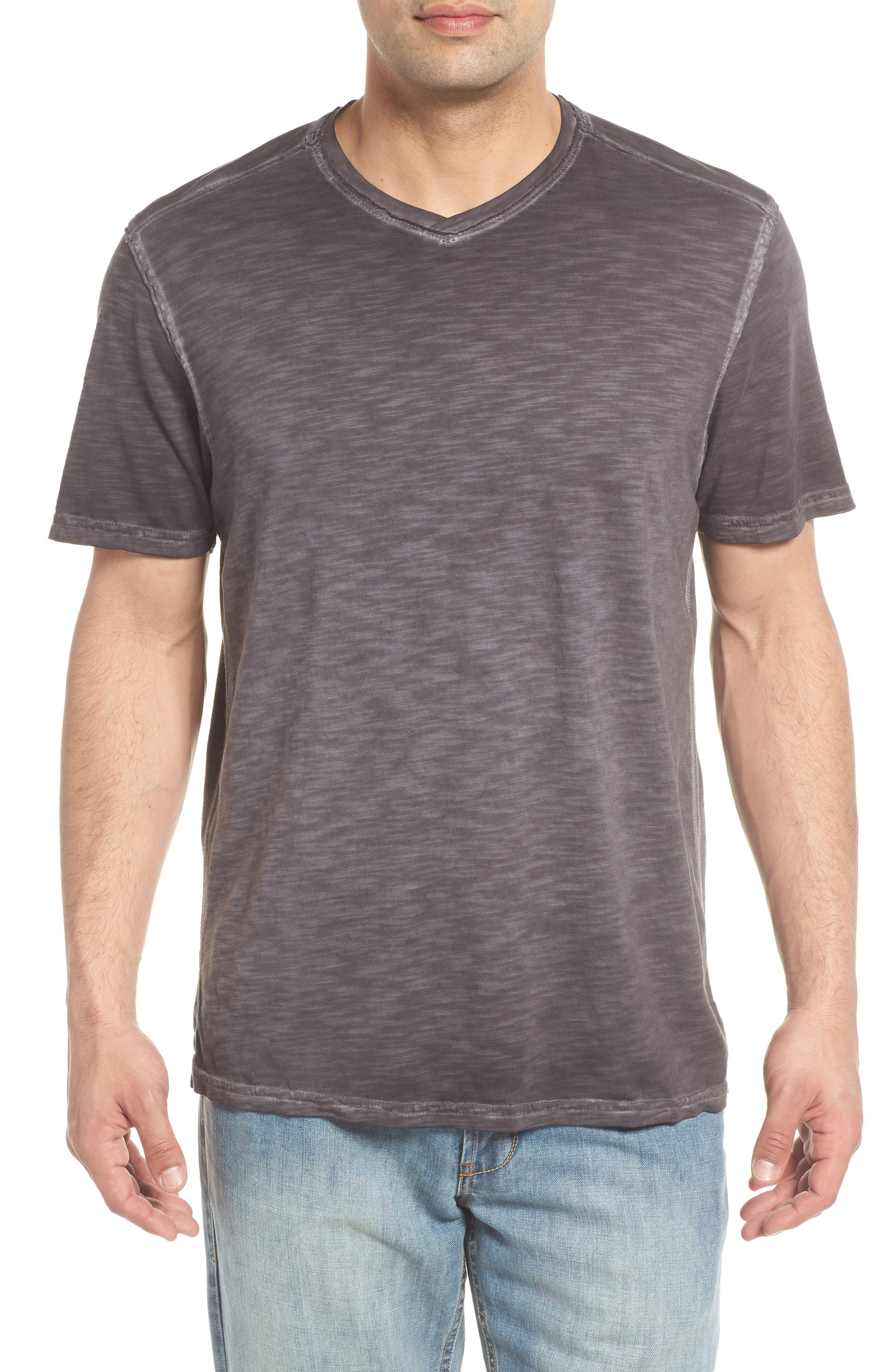 Suncoast Shores V-Neck T-Shirt,                         Main,                         color, COAL