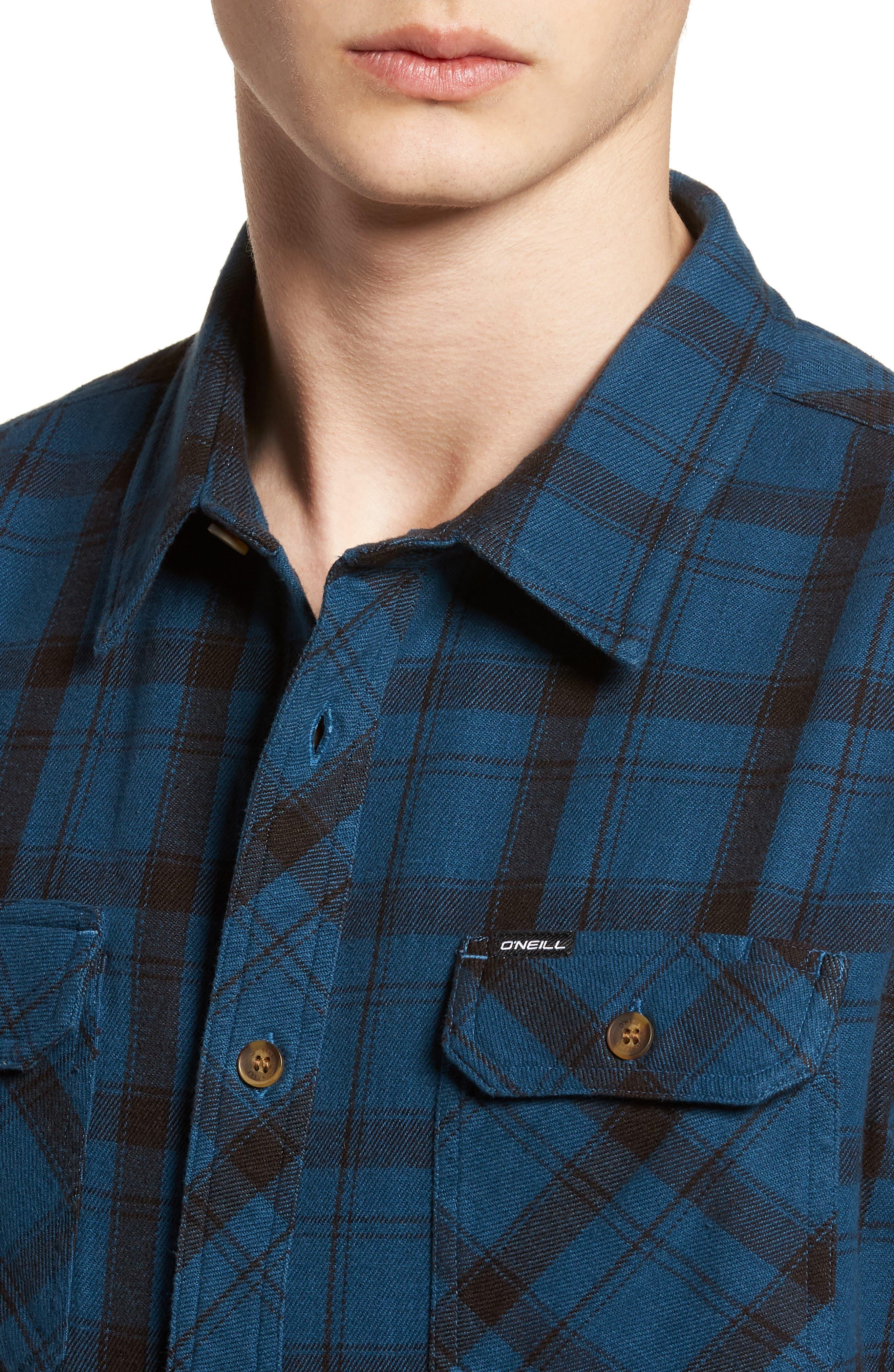 Carpenter Flannel Shirt,                             Alternate thumbnail 12, color,