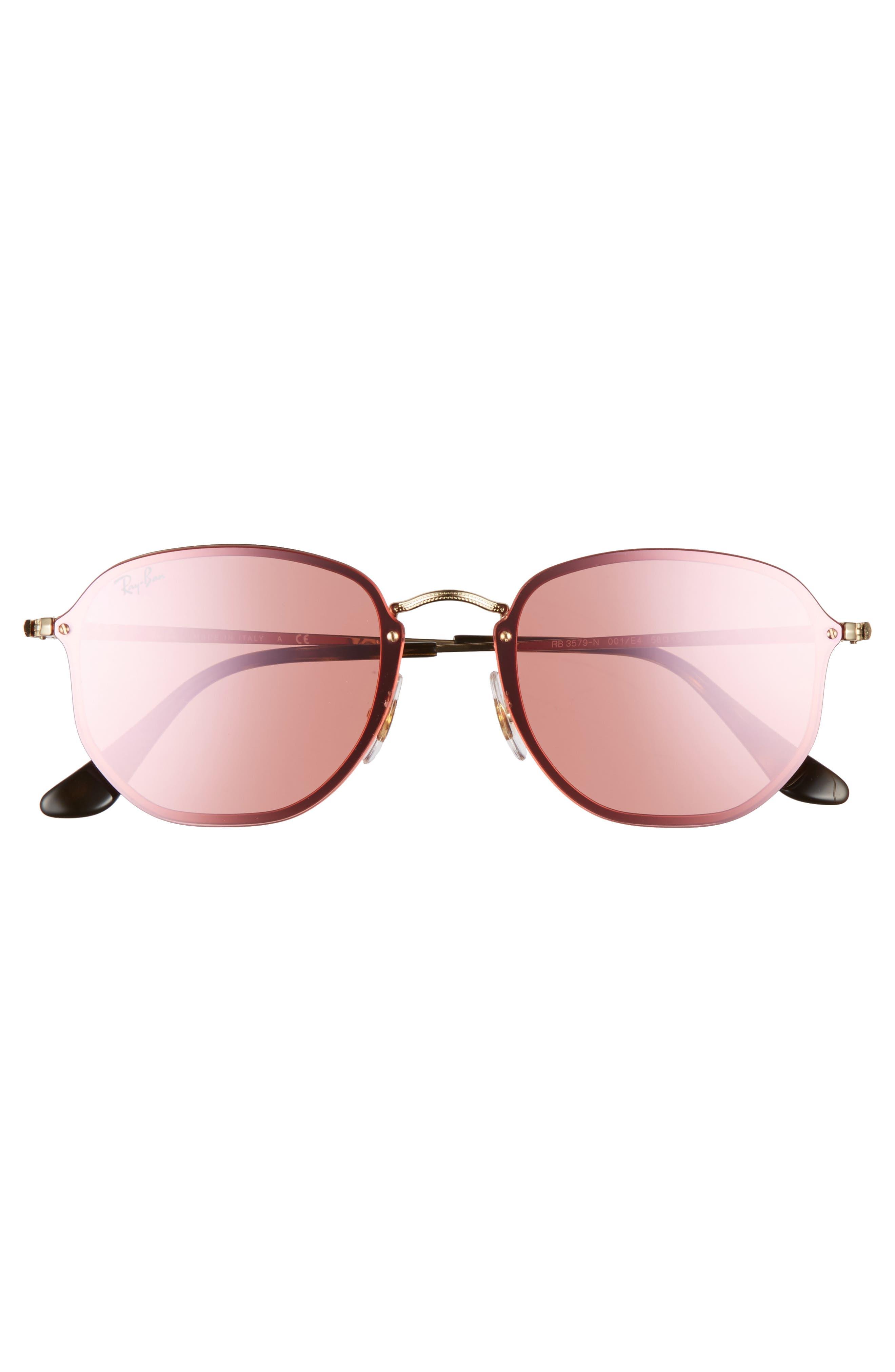 58mm Round Sunglasses,                             Alternate thumbnail 6, color,