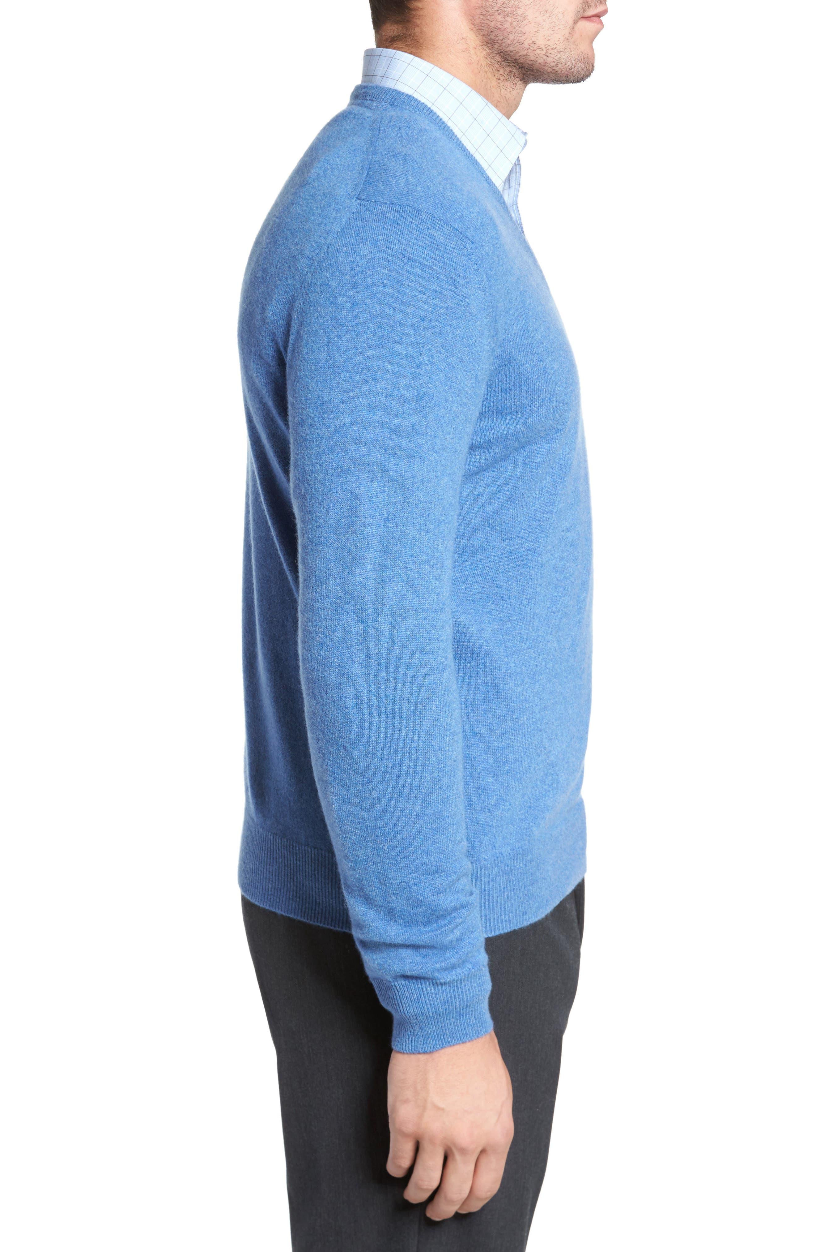 Cashmere V-Neck Sweater,                             Alternate thumbnail 16, color,