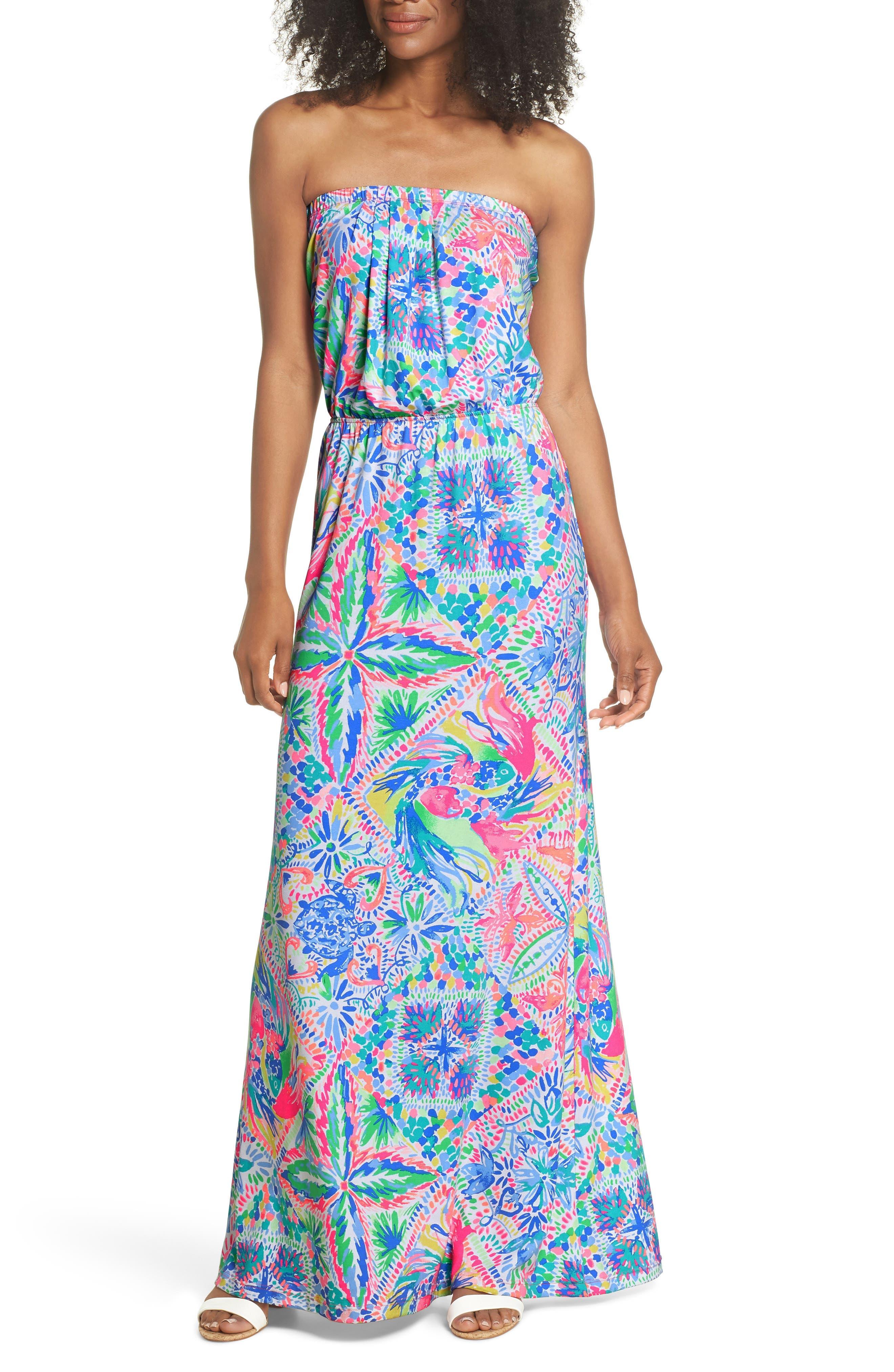 Marlisa Maxi Dress,                         Main,                         color, MULTI DANCING ON THE DECK