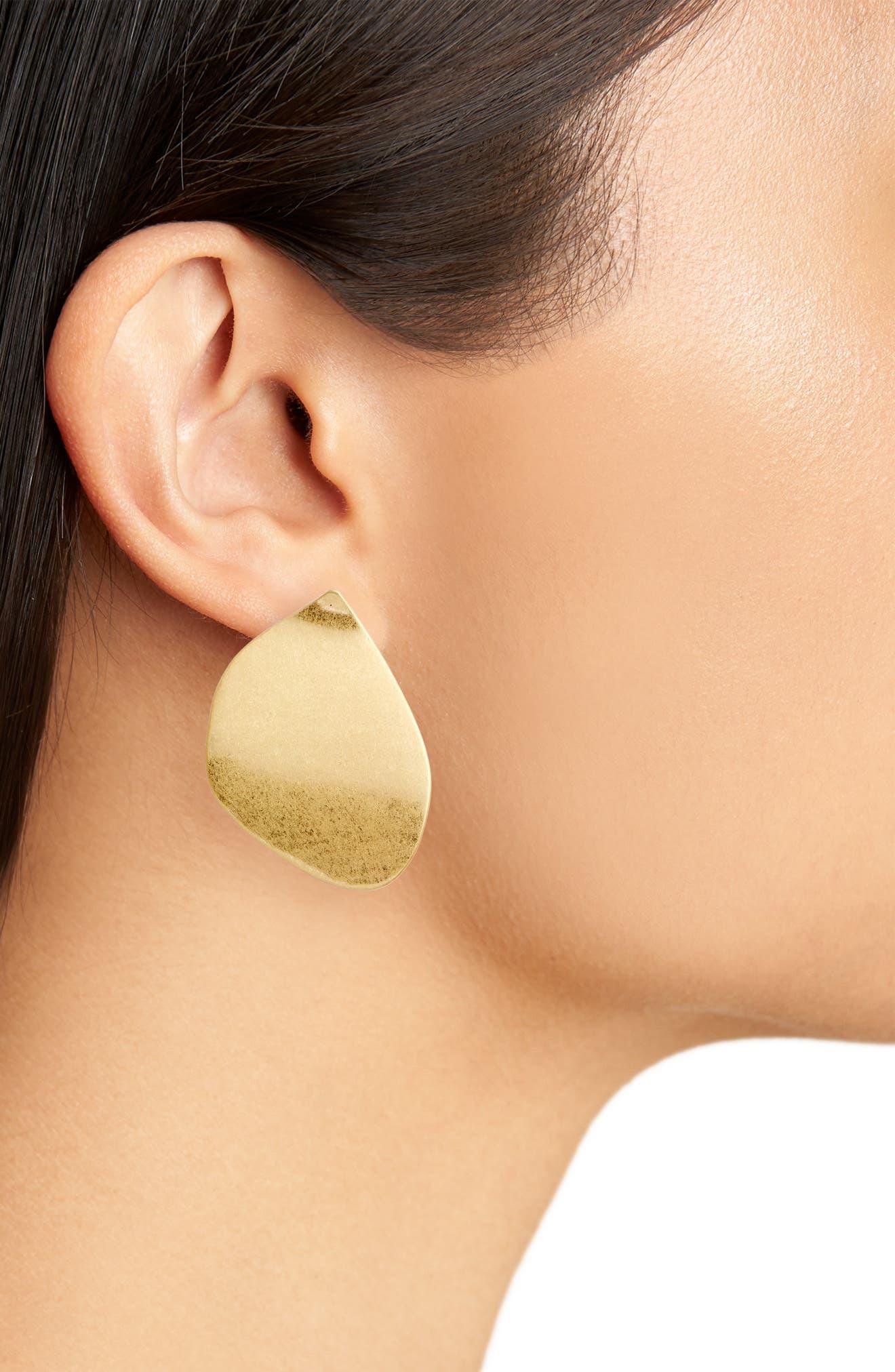 Sadie Sculptural Disc Earrings,                             Alternate thumbnail 2, color,