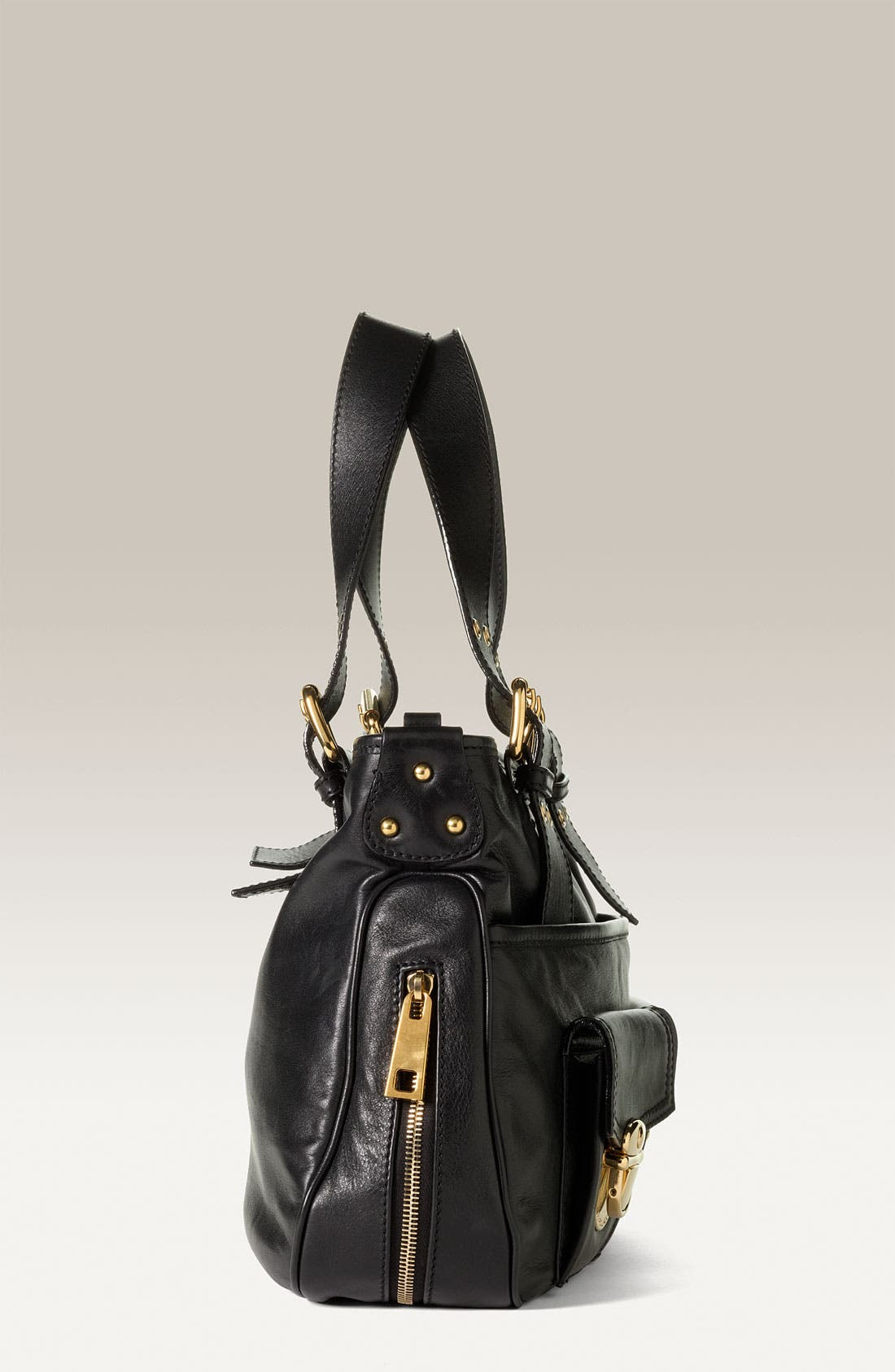 'Stella' Leather Handbag,                             Alternate thumbnail 2, color,                             001