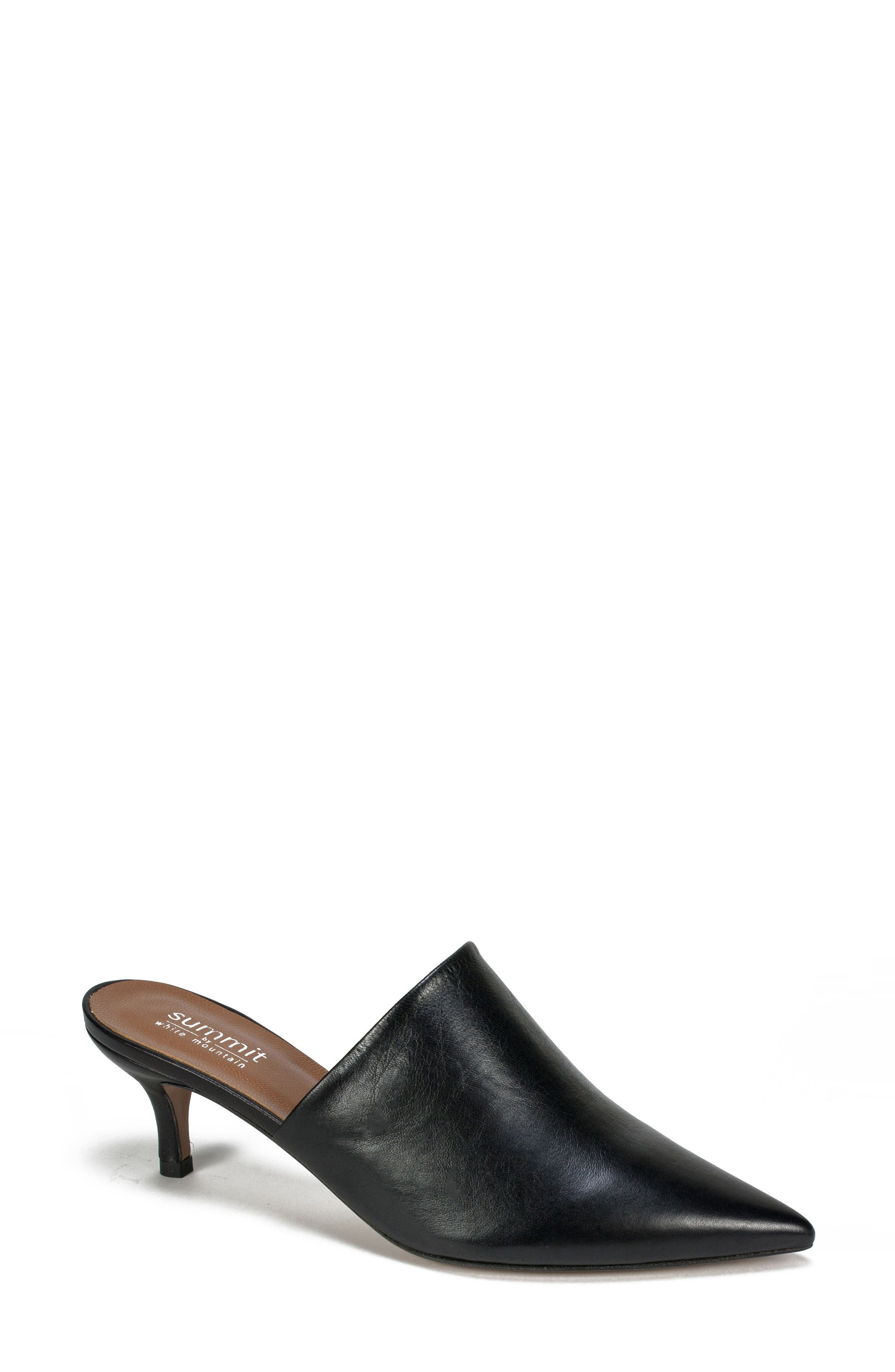 Piper Pointy Toe Mule,                             Main thumbnail 1, color,                             001