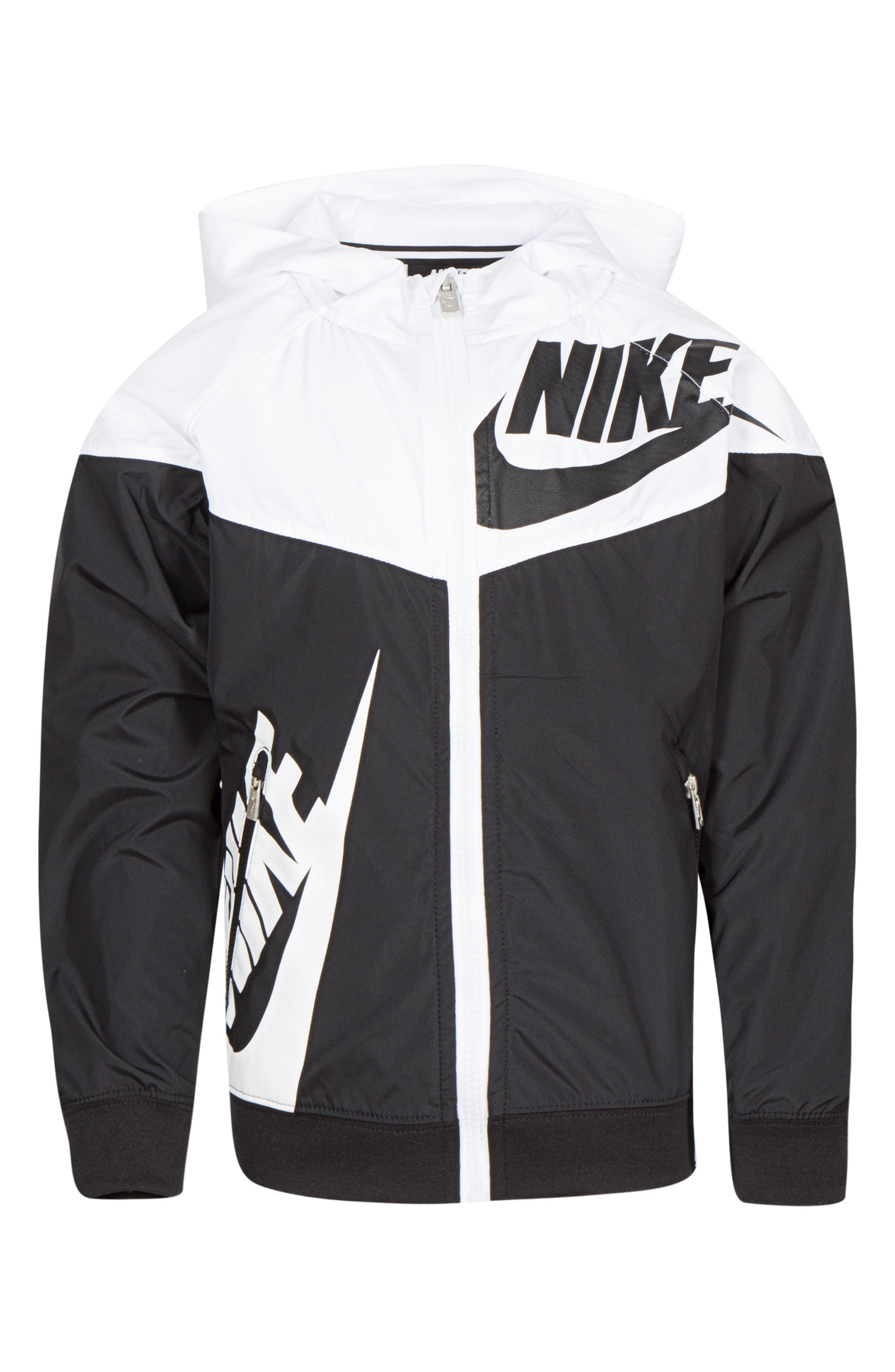 Sportswear Windrunner Zip Hoodie,                             Main thumbnail 1, color,                             BLACK