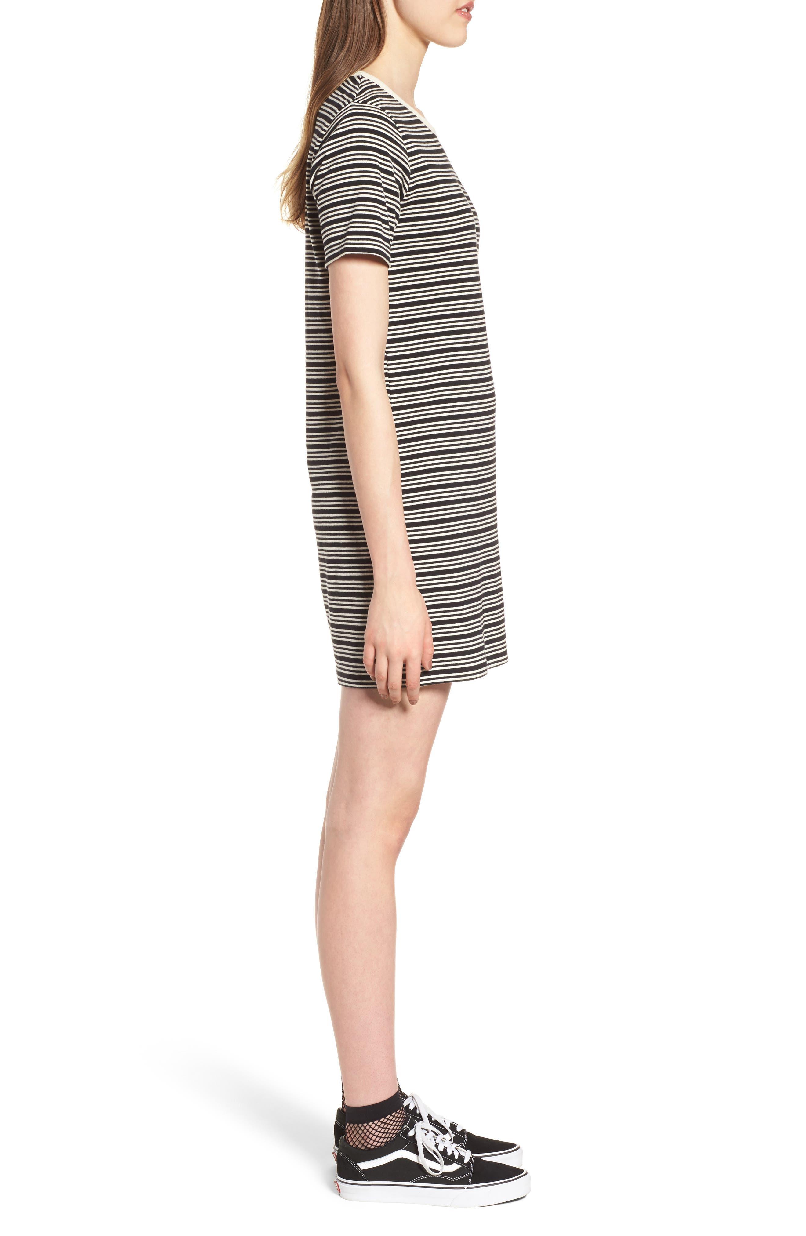 Freya Stripe T-Shirt Dress,                             Alternate thumbnail 3, color,