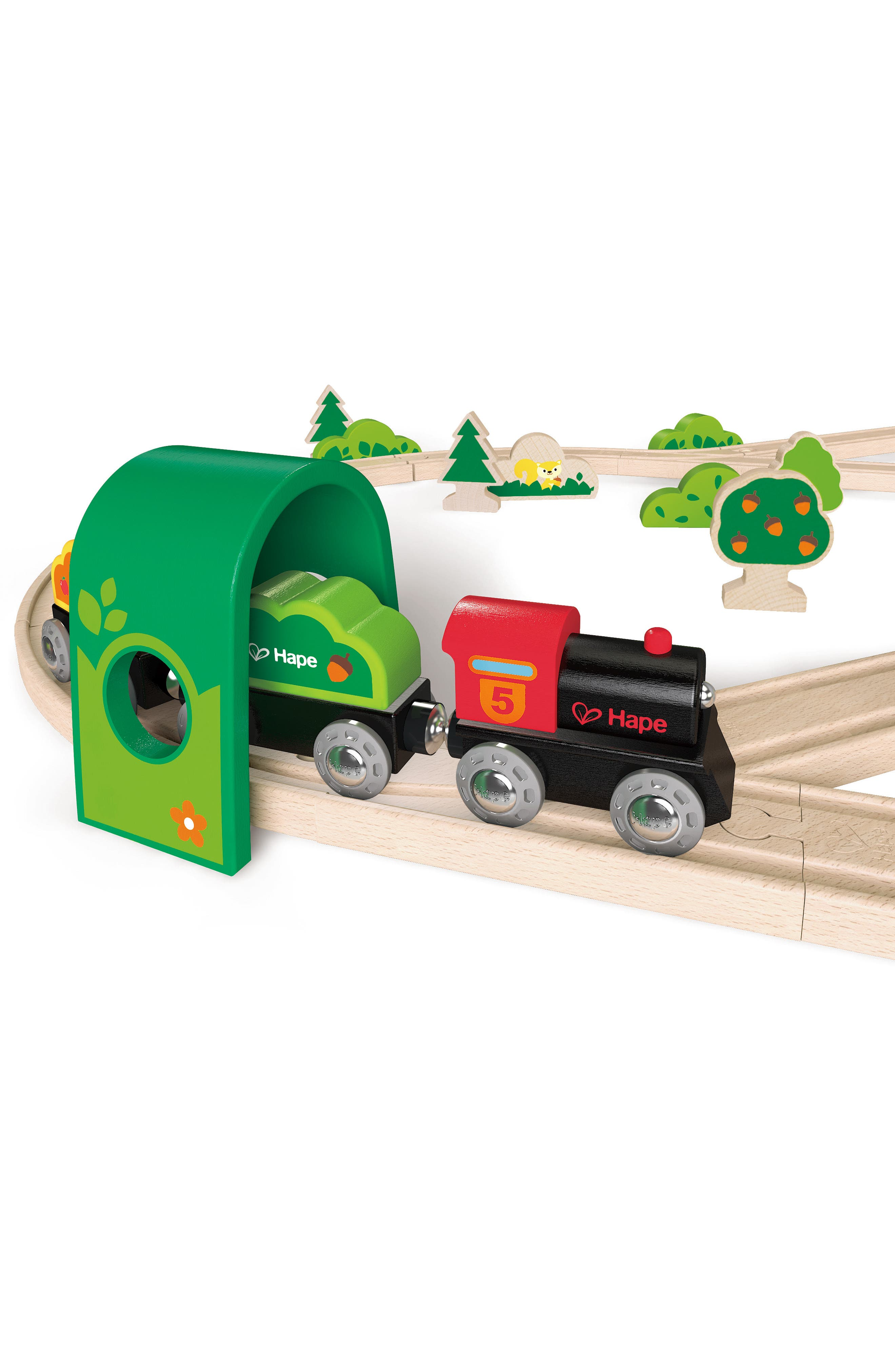 Forest Railway Wooden Train Set,                             Alternate thumbnail 2, color,                             600