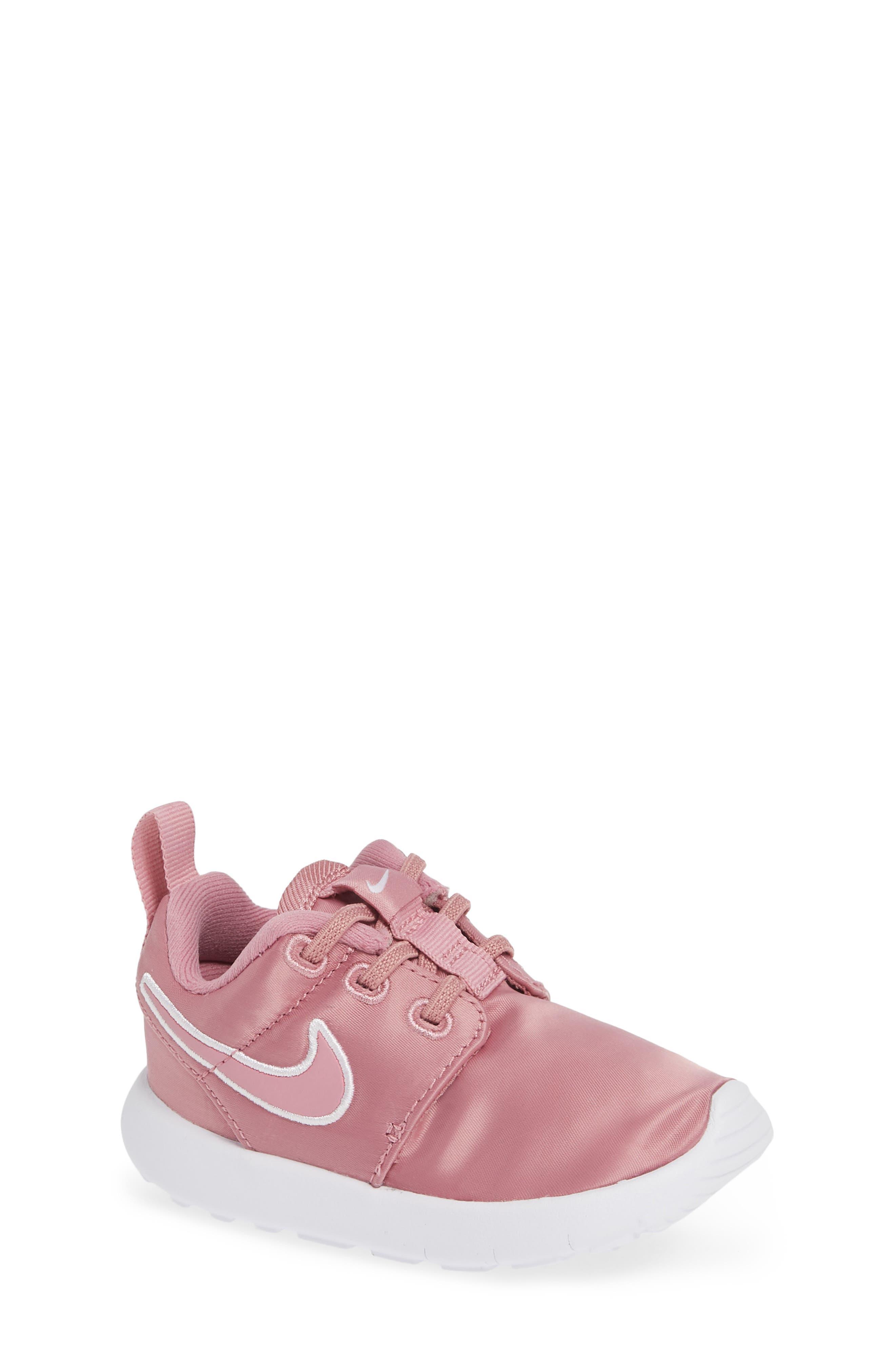 Roshe Run Sneaker,                             Main thumbnail 1, color,                             ELEMENTAL PINK/ PINK-WHITE