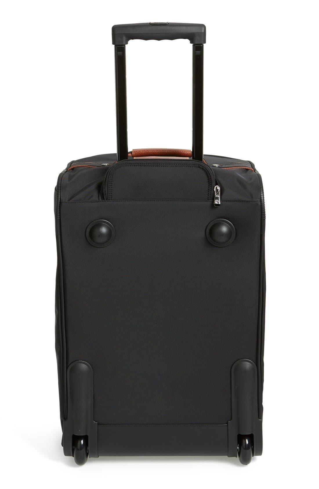 'Small Le Pliage' Wheeled Travel Bag,                             Alternate thumbnail 4, color,                             001