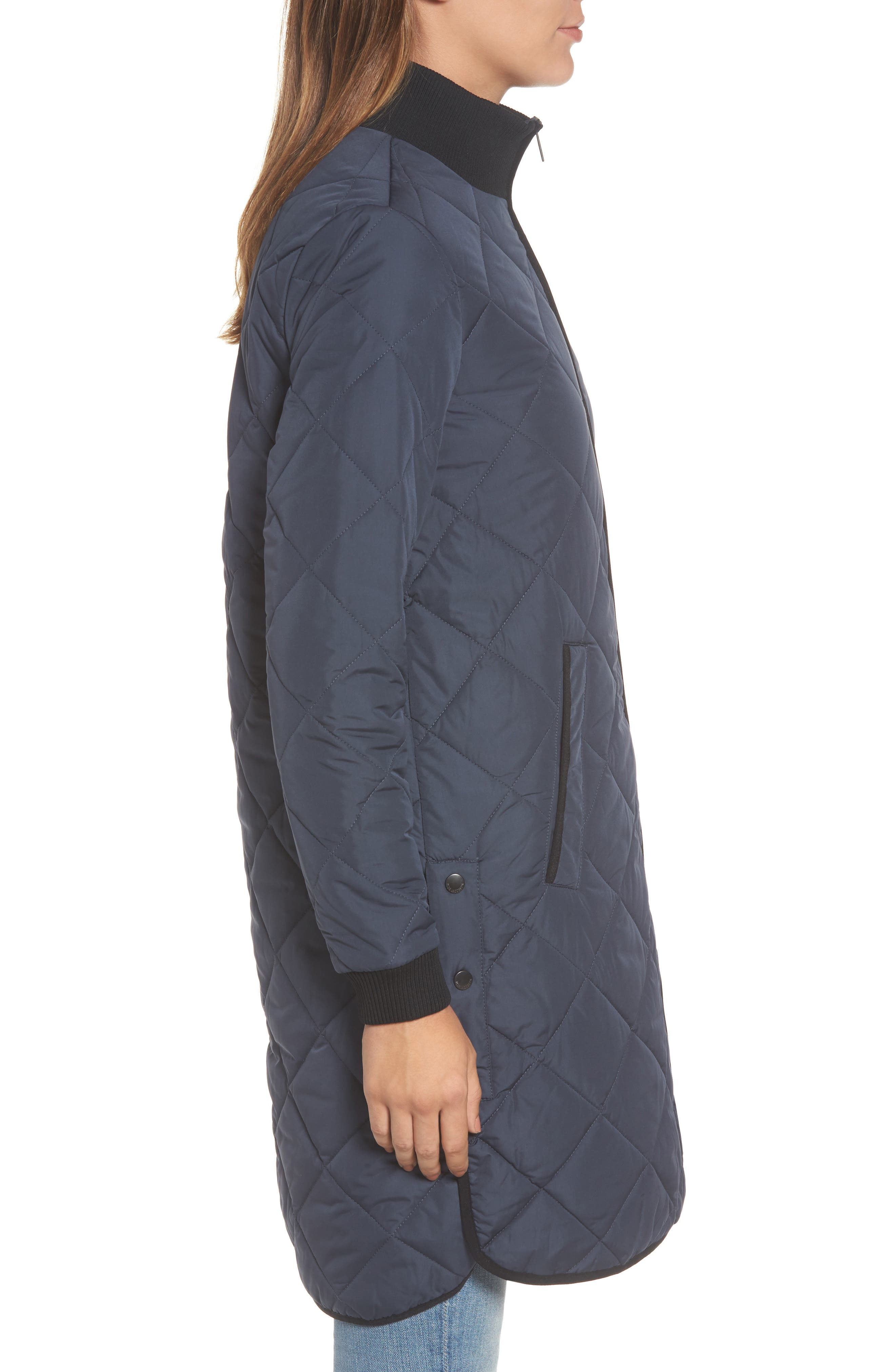 IIse Jacobsen Hornbaek Quilted Coat,                             Alternate thumbnail 3, color,                             401