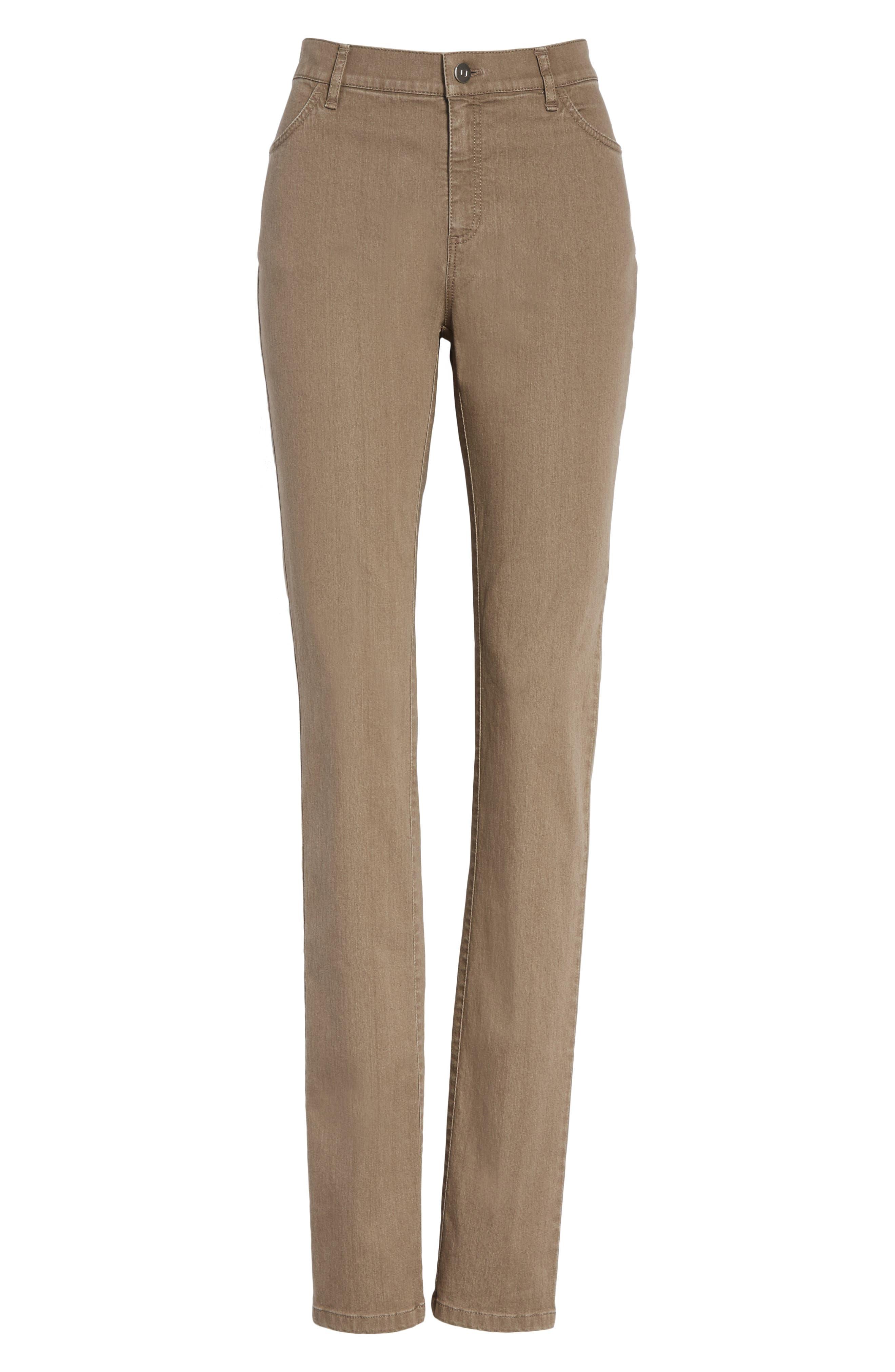 'Primo Denim' Curvy Fit Slim Leg Jeans,                             Alternate thumbnail 7, color,                             TUMBLEWEED