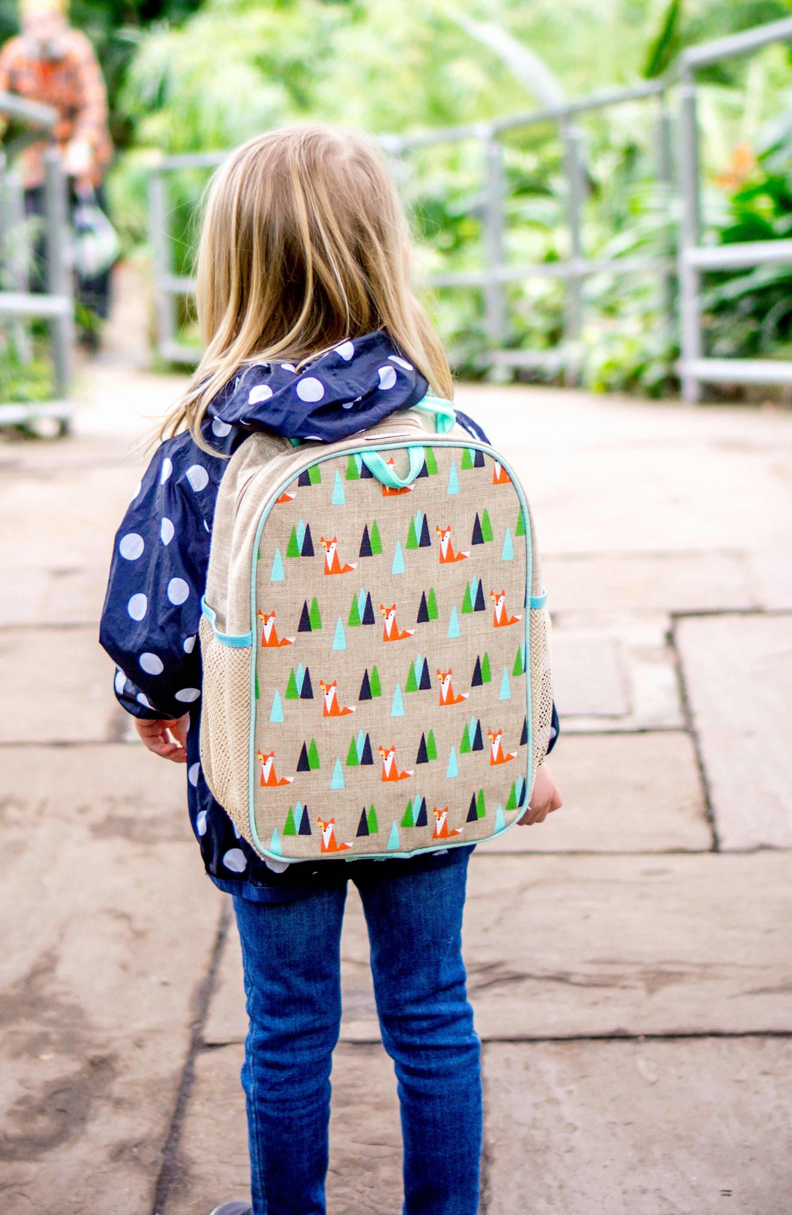 Raw Linen Toddler Backpack,                             Alternate thumbnail 5, color,