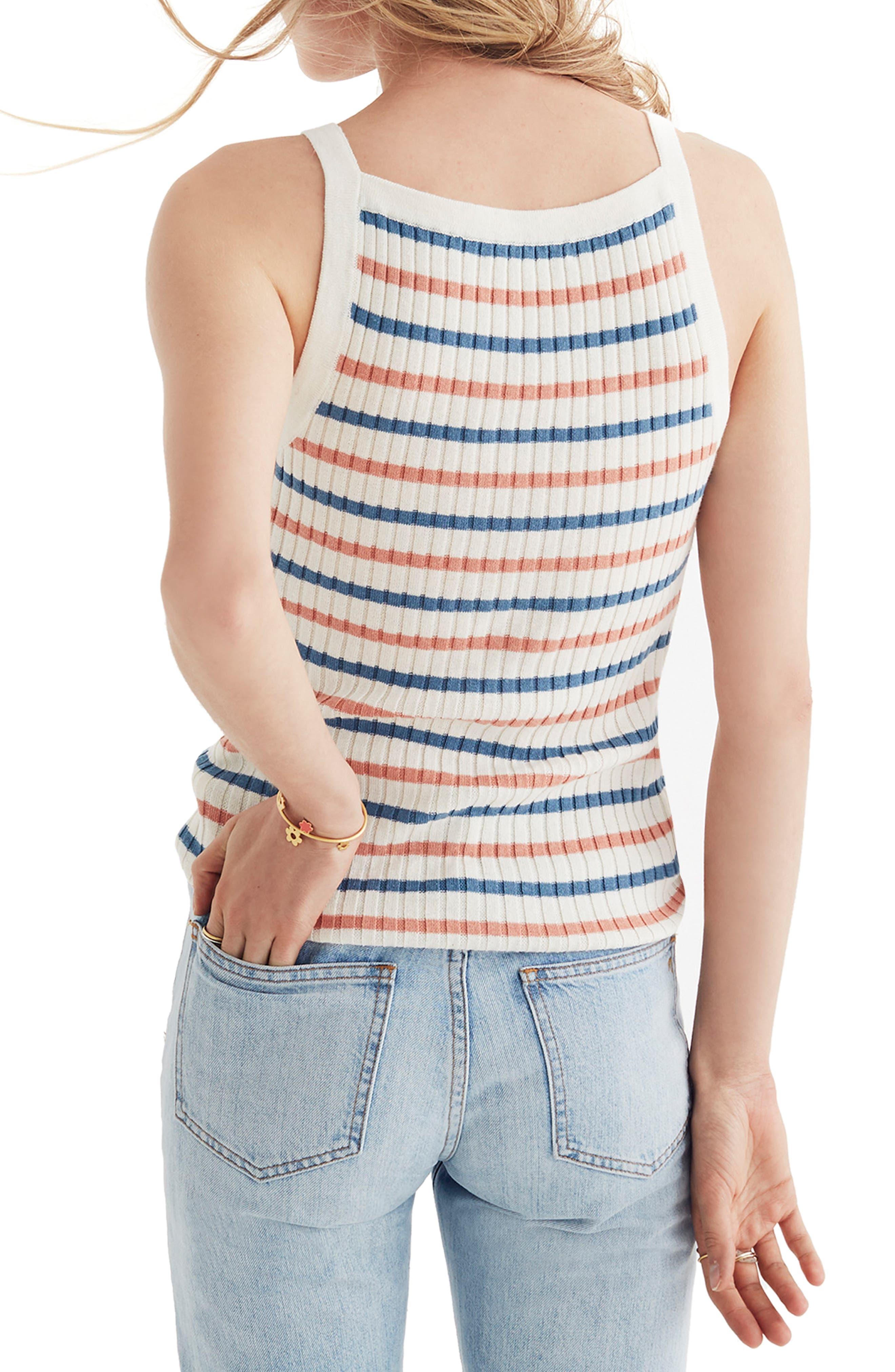 Stripe Apron Sweater Tank,                             Alternate thumbnail 2, color,                             100