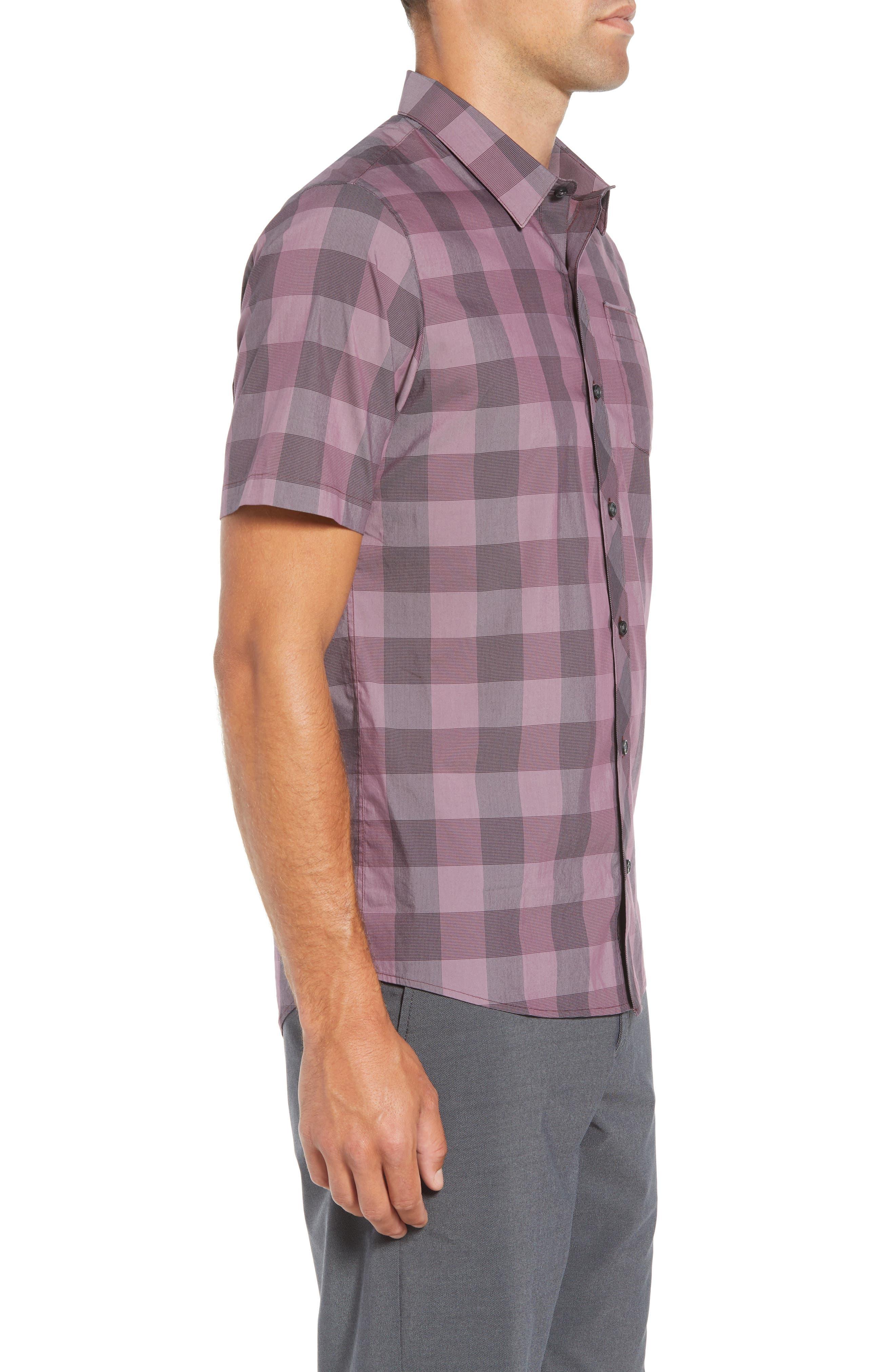 Buffalo Regular Fit Sport Shirt,                             Alternate thumbnail 4, color,                             HEATHER EGGPLANT