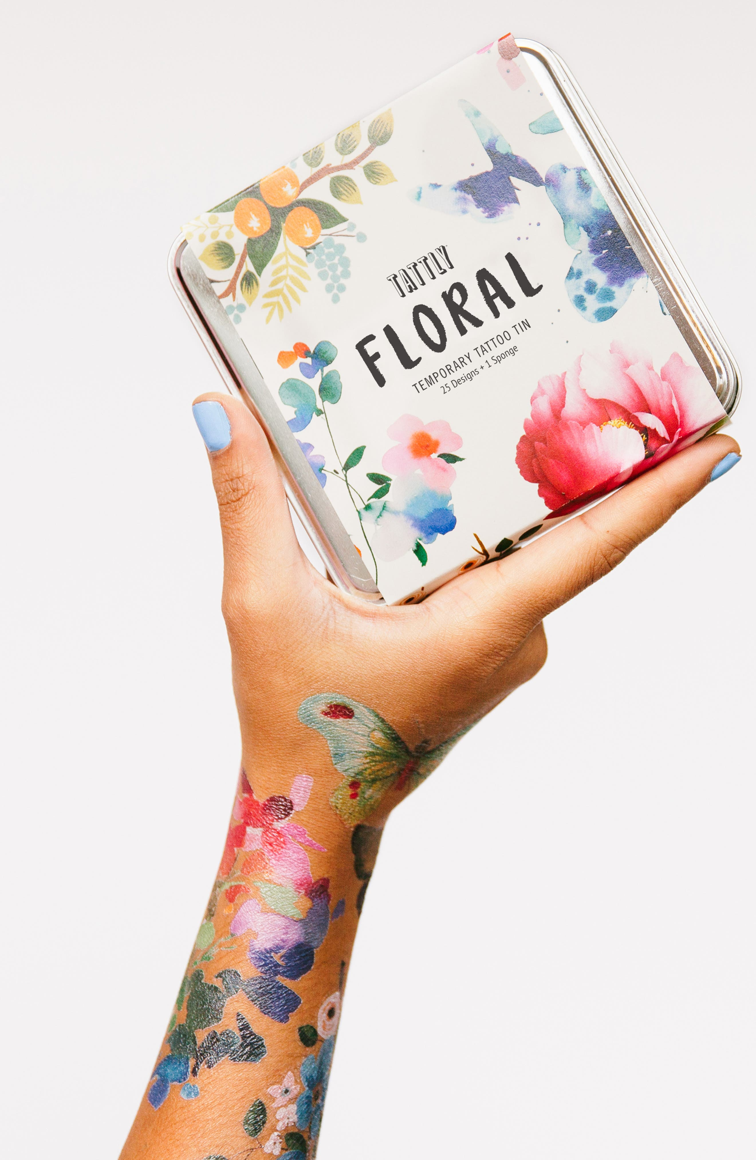 Temporary Tattoo Tin,                             Alternate thumbnail 3, color,                             FLORAL