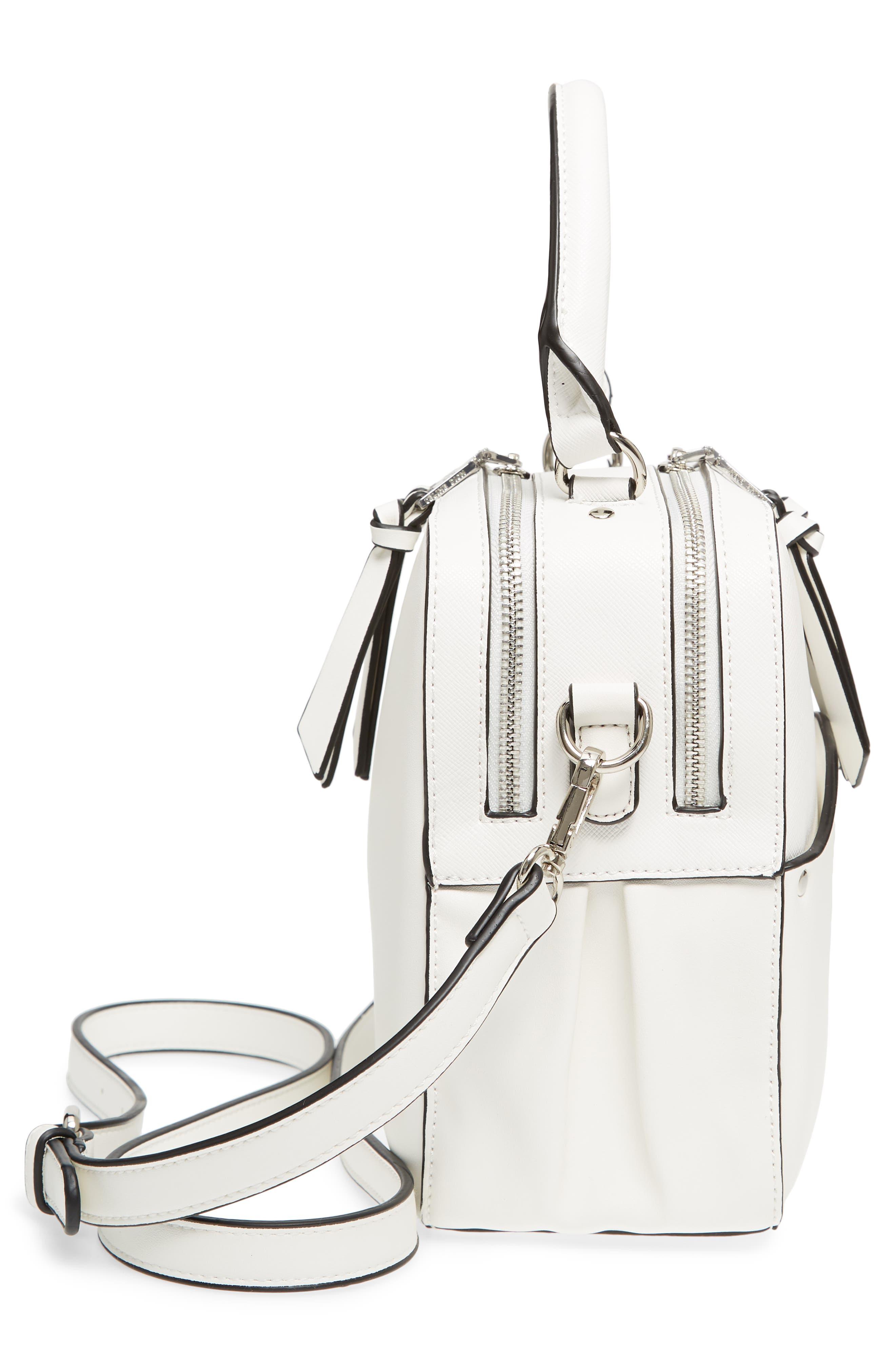Céline Dion Motif Top Handle Leather Satchel,                             Alternate thumbnail 15, color,