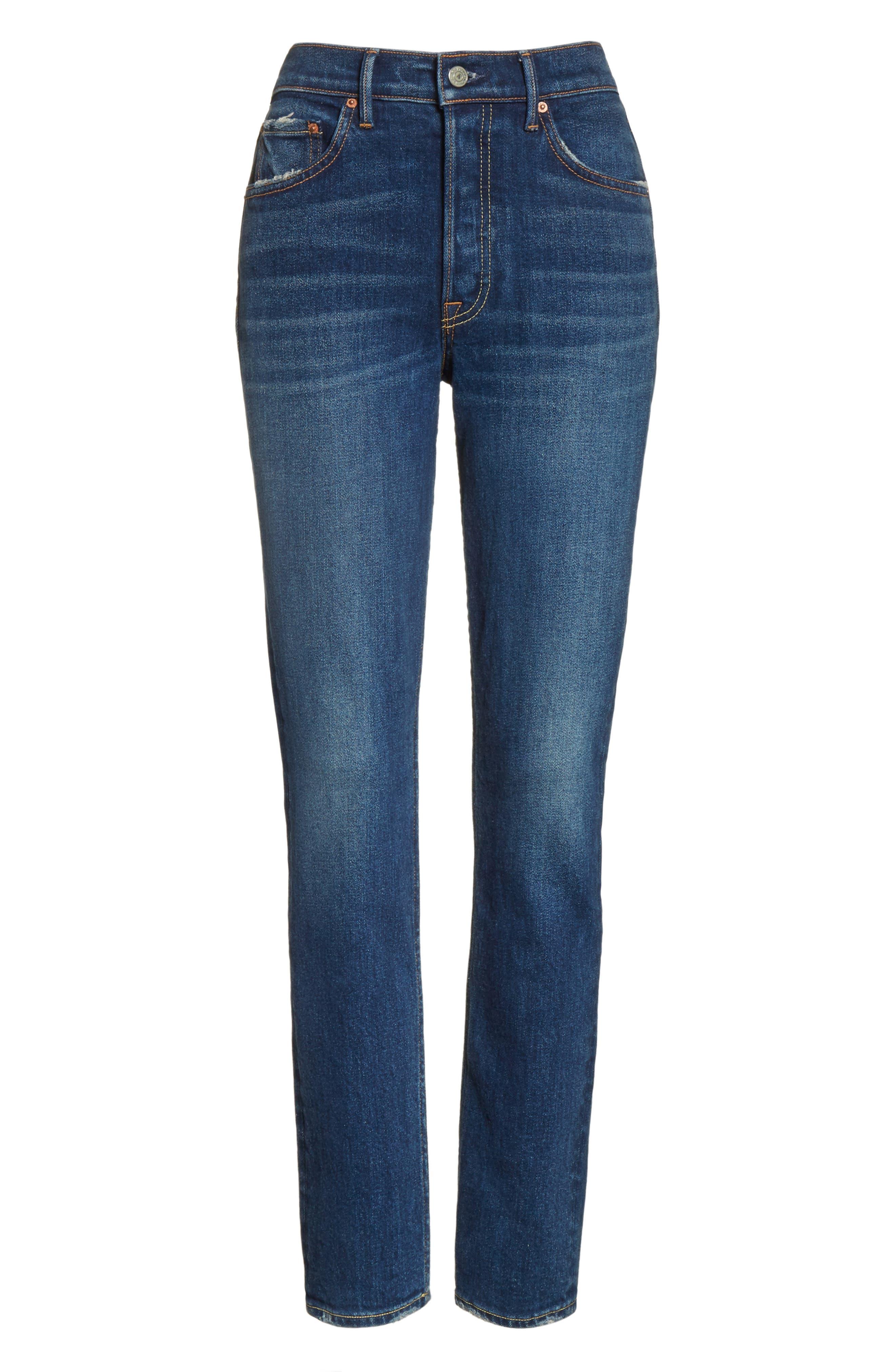 Karolina High Waist Skinny Jeans,                             Alternate thumbnail 6, color,                             JOAN JETT