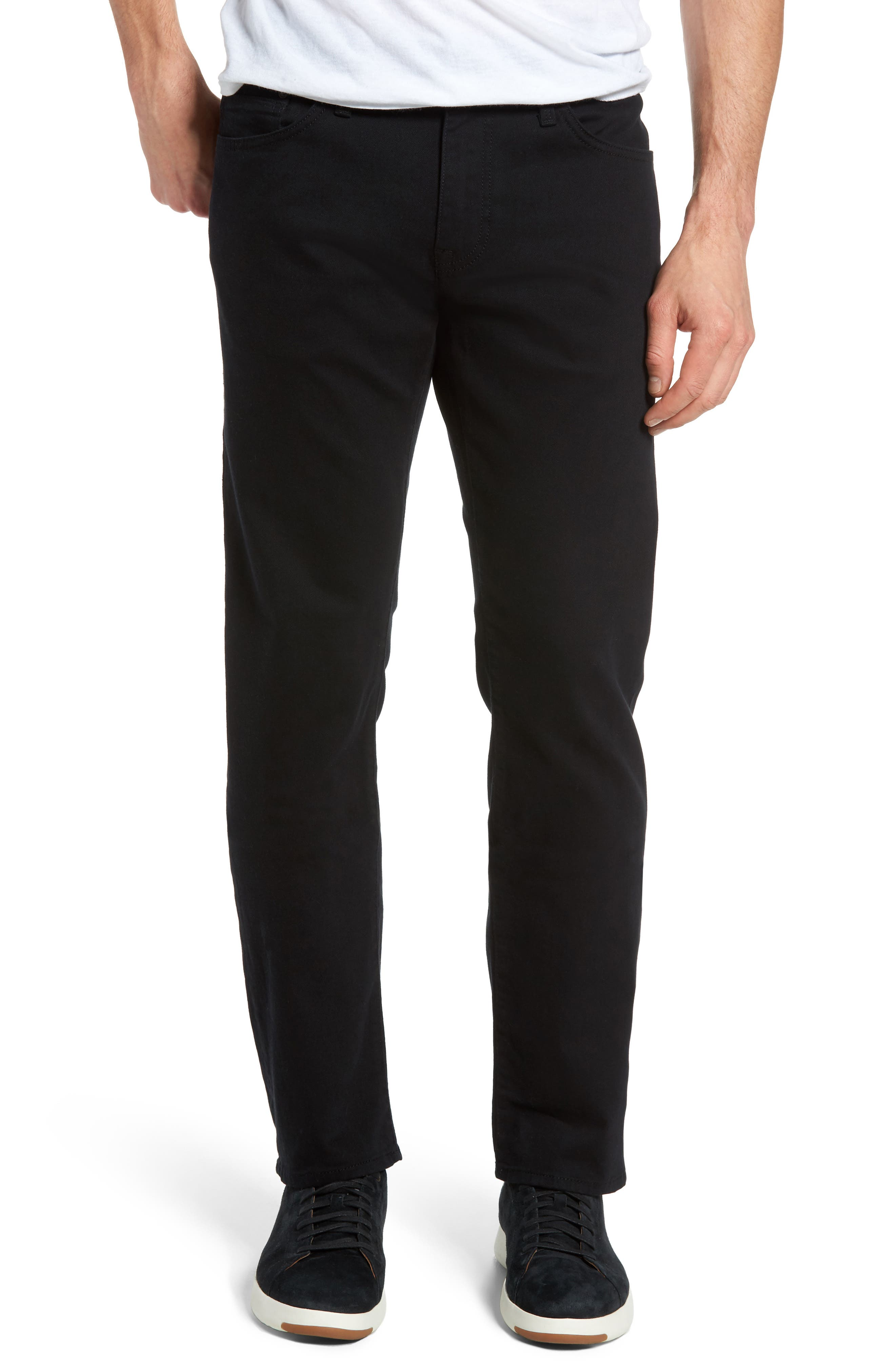 Zach Straight Leg Jeans,                             Main thumbnail 1, color,                             BLACK WILLIAMSBURG