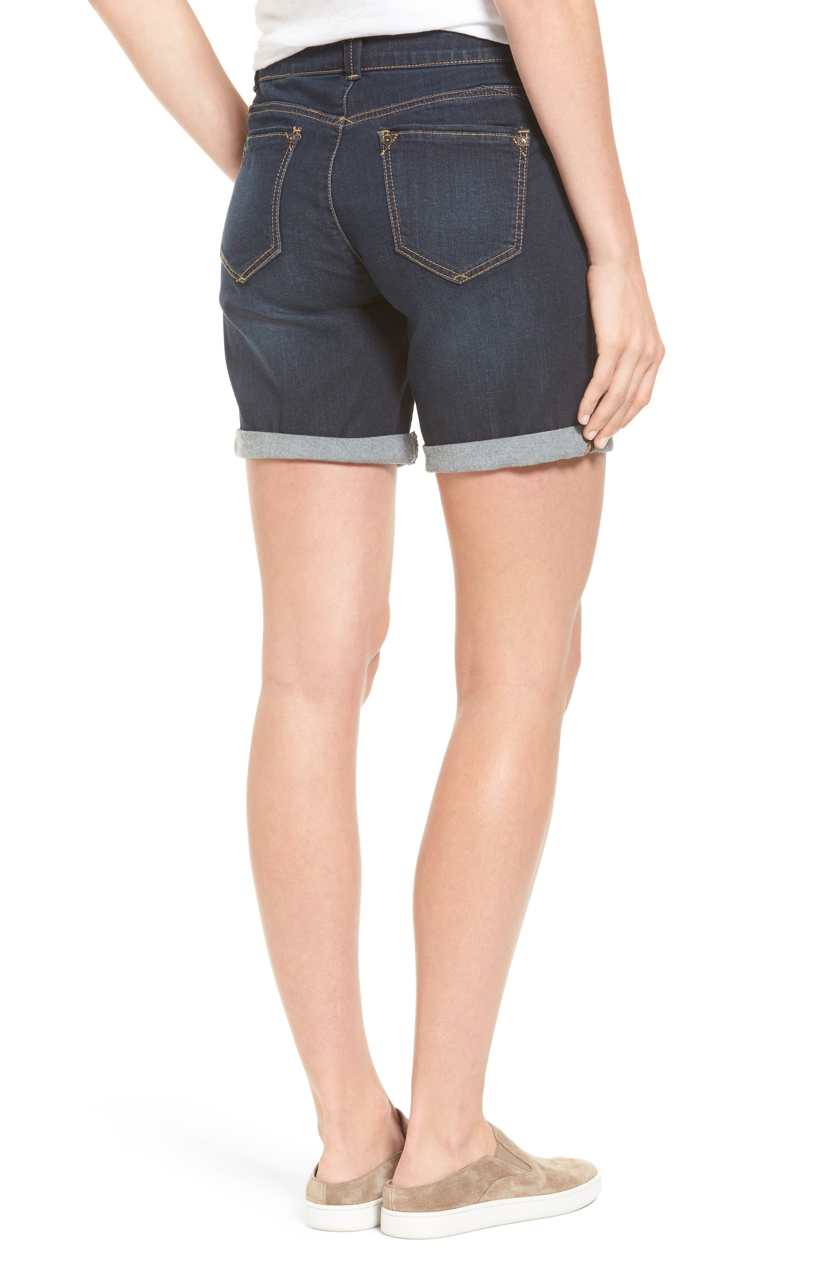 Ab-solution Cuffed Denim Shorts,                             Alternate thumbnail 2, color,                             402