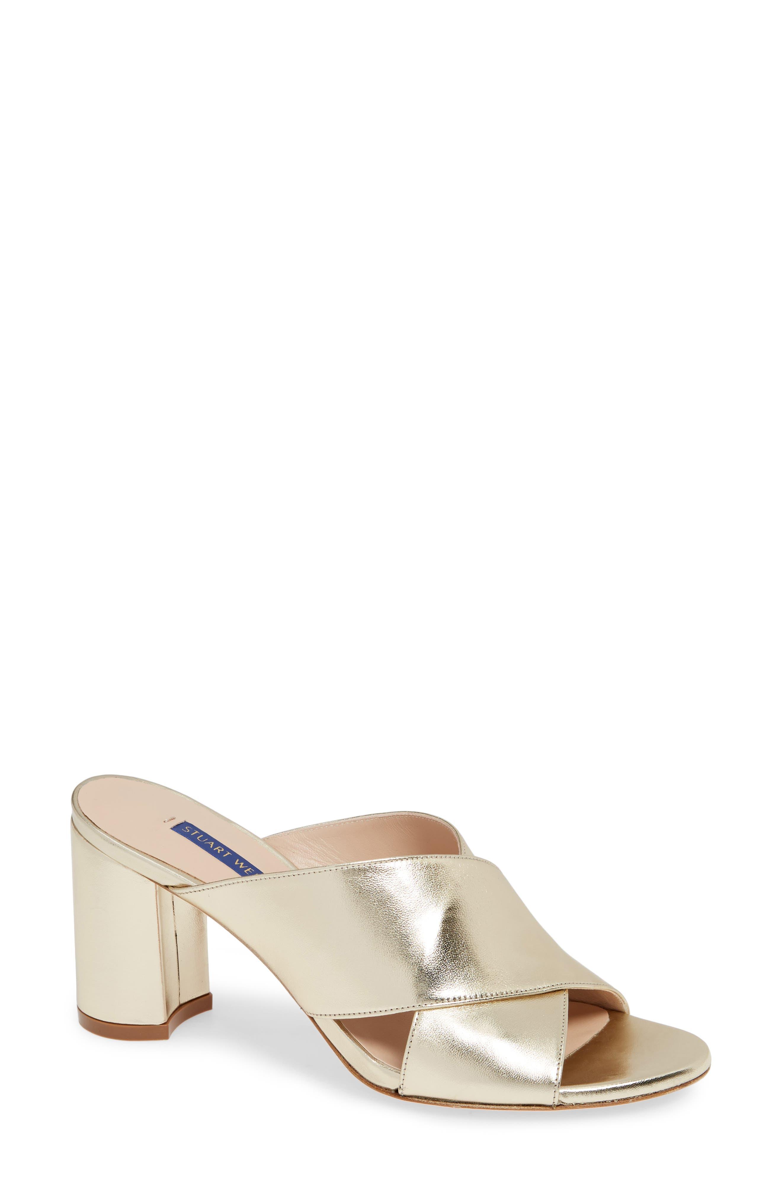 Stuart Weitzman Galene Sandal- Metallic
