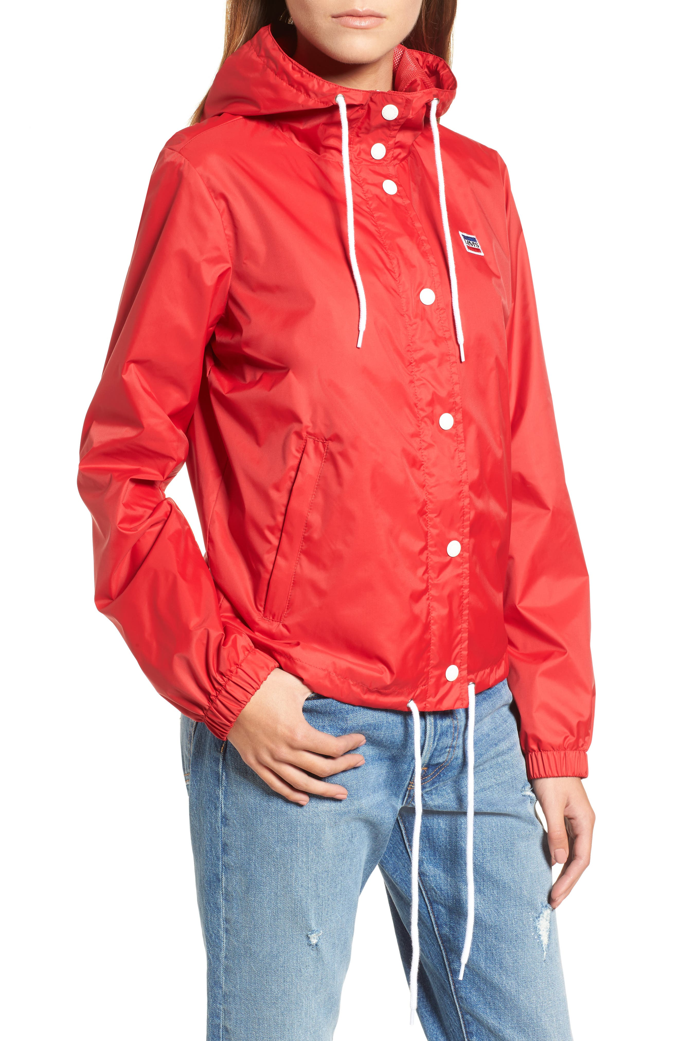 Retro Hooded Coach's Jacket,                             Alternate thumbnail 20, color,