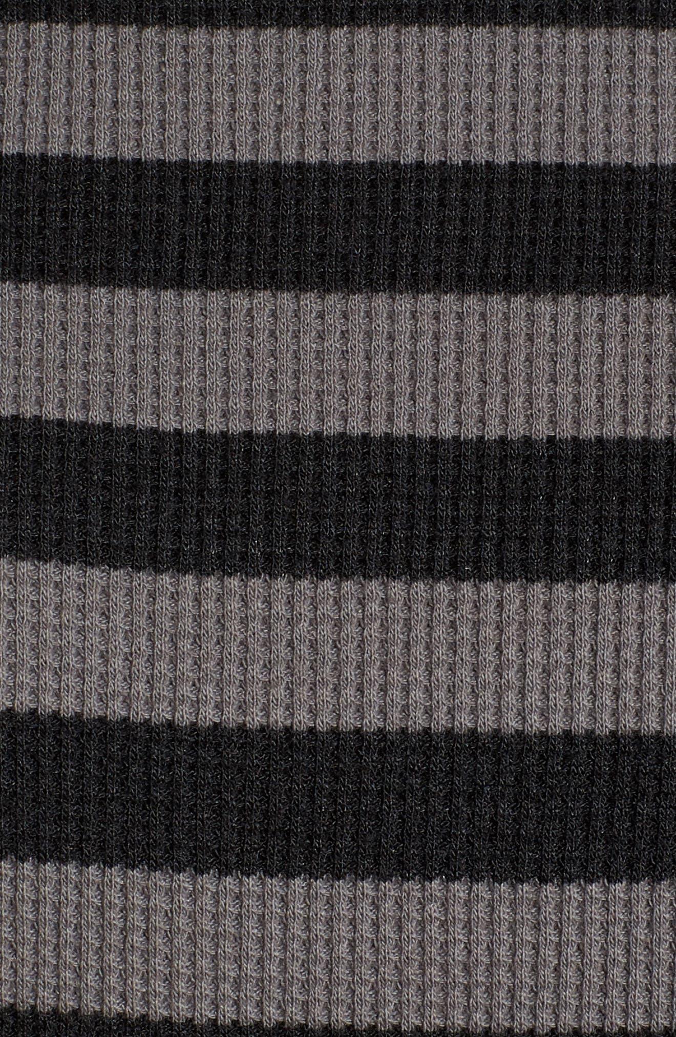 Stripe Thermal Hoodie,                             Alternate thumbnail 5, color,                             020