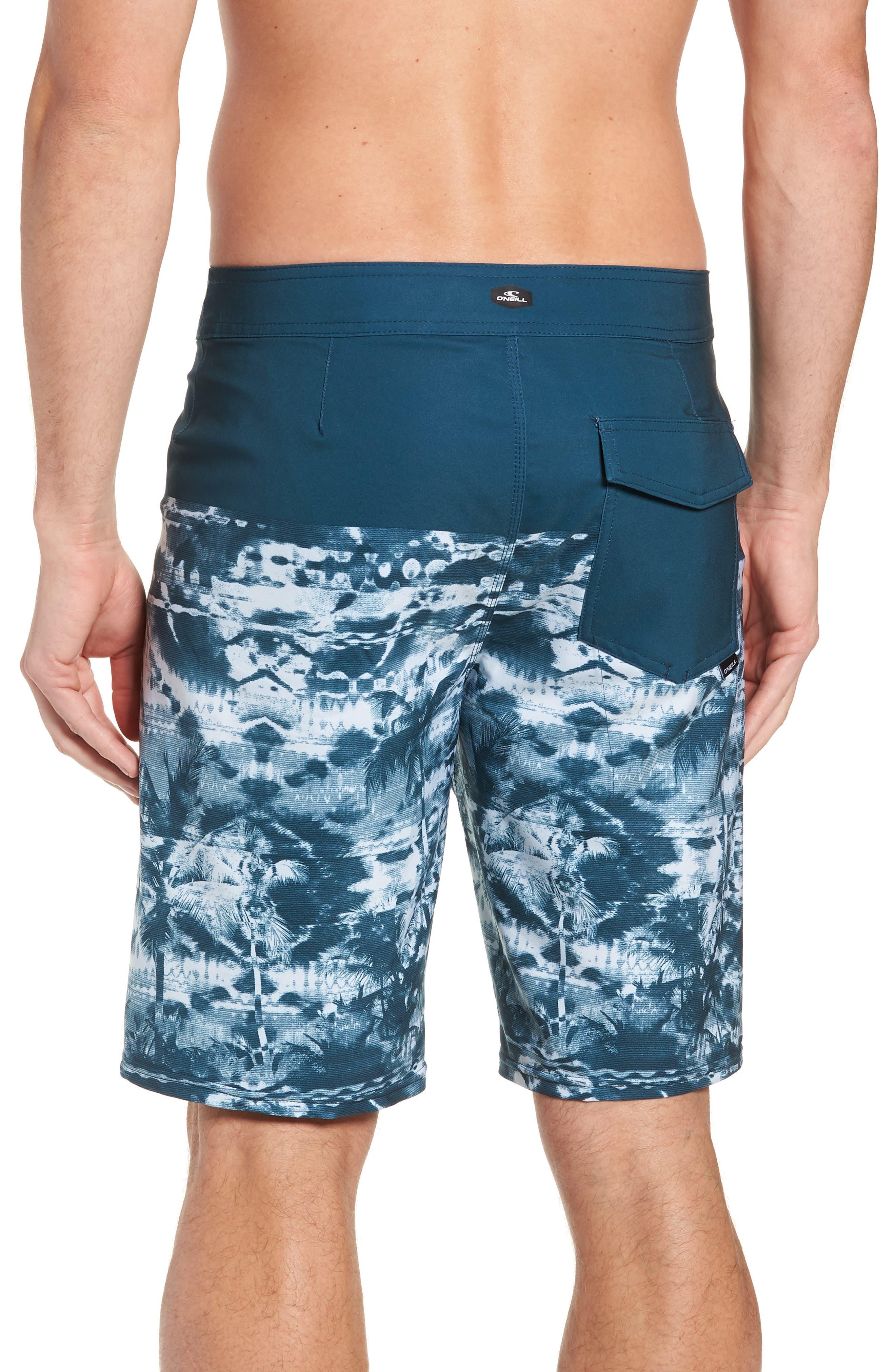 Hyperfreak Vietpalm Board Shorts,                             Alternate thumbnail 2, color,                             DARK BLUE