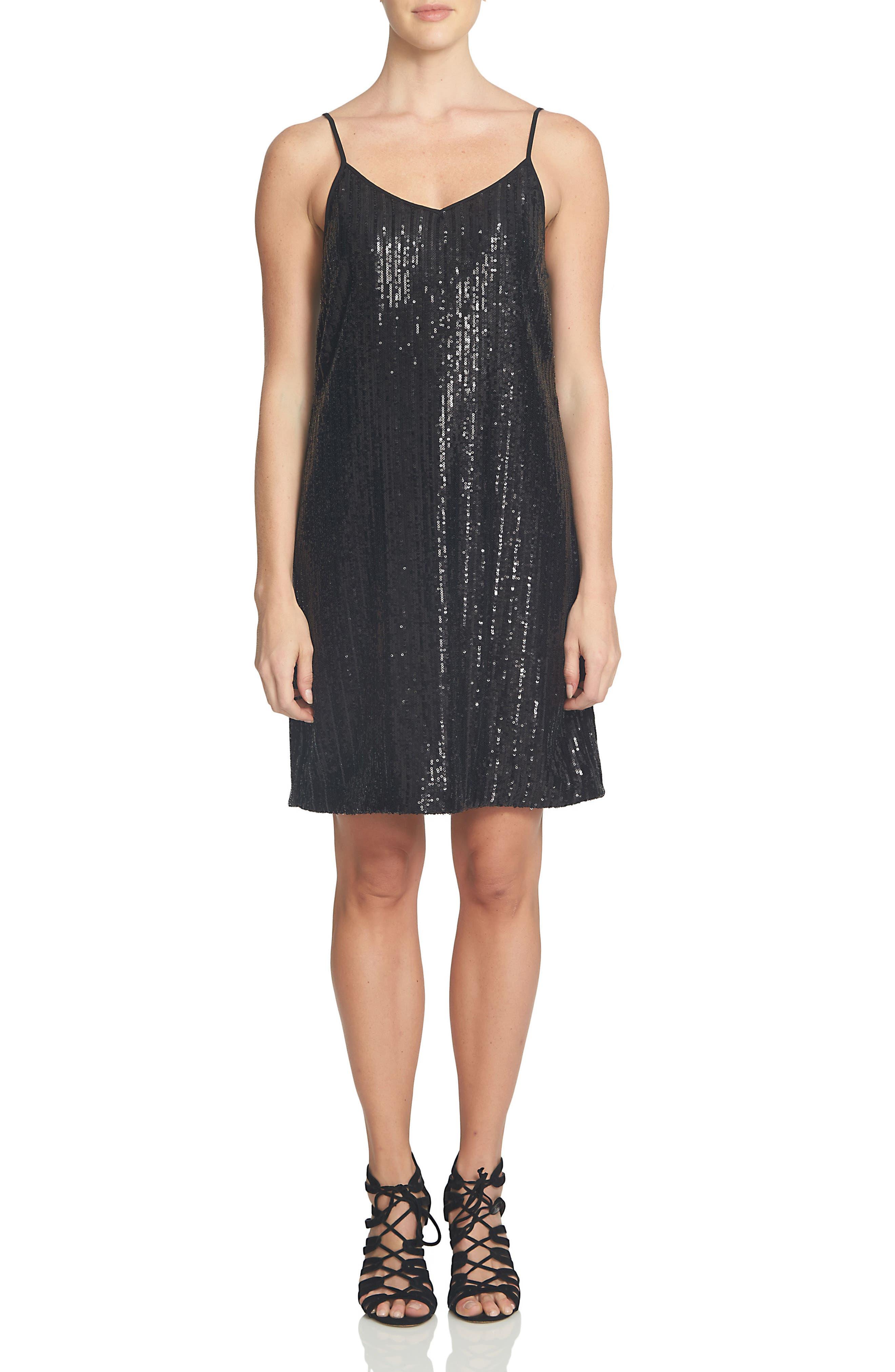 Sparkle Shift Dress, Main, color, 001