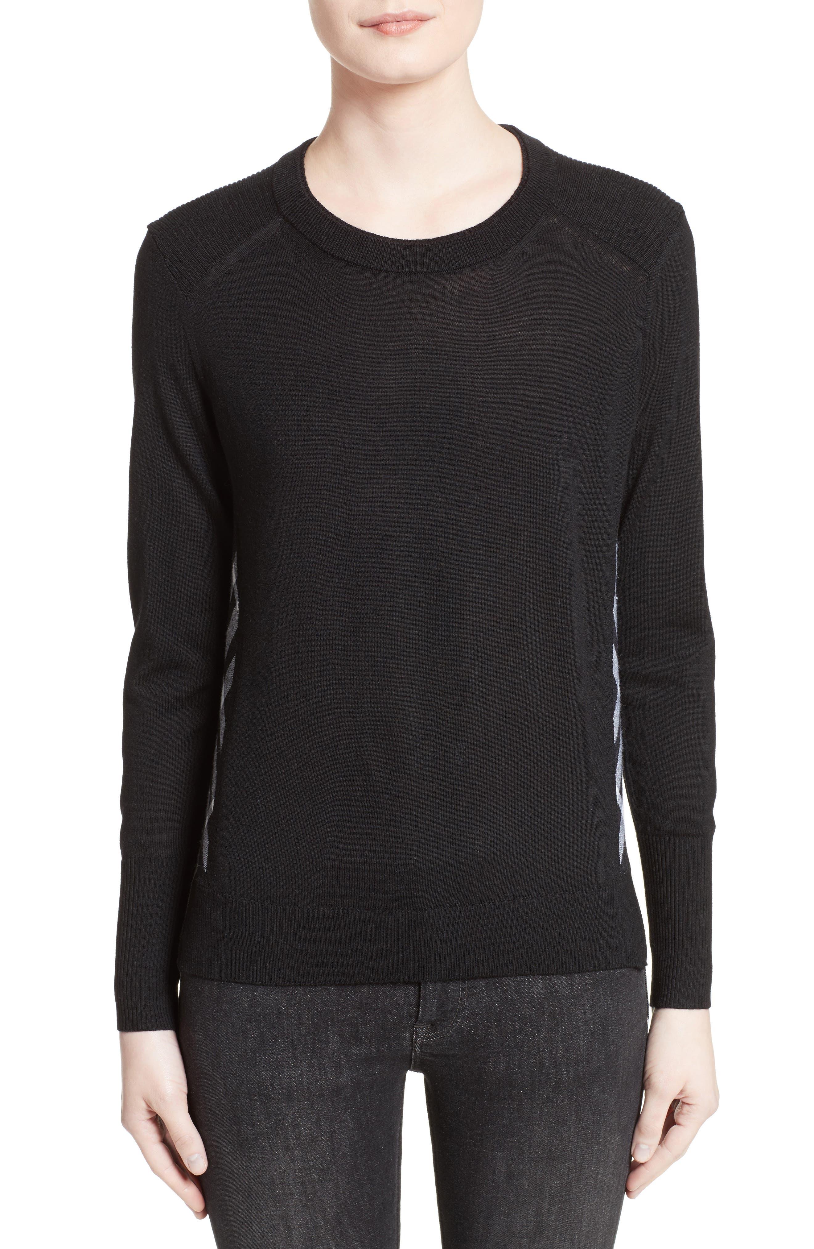 Meigan Merino Wool Sweater,                             Main thumbnail 1, color,                             001
