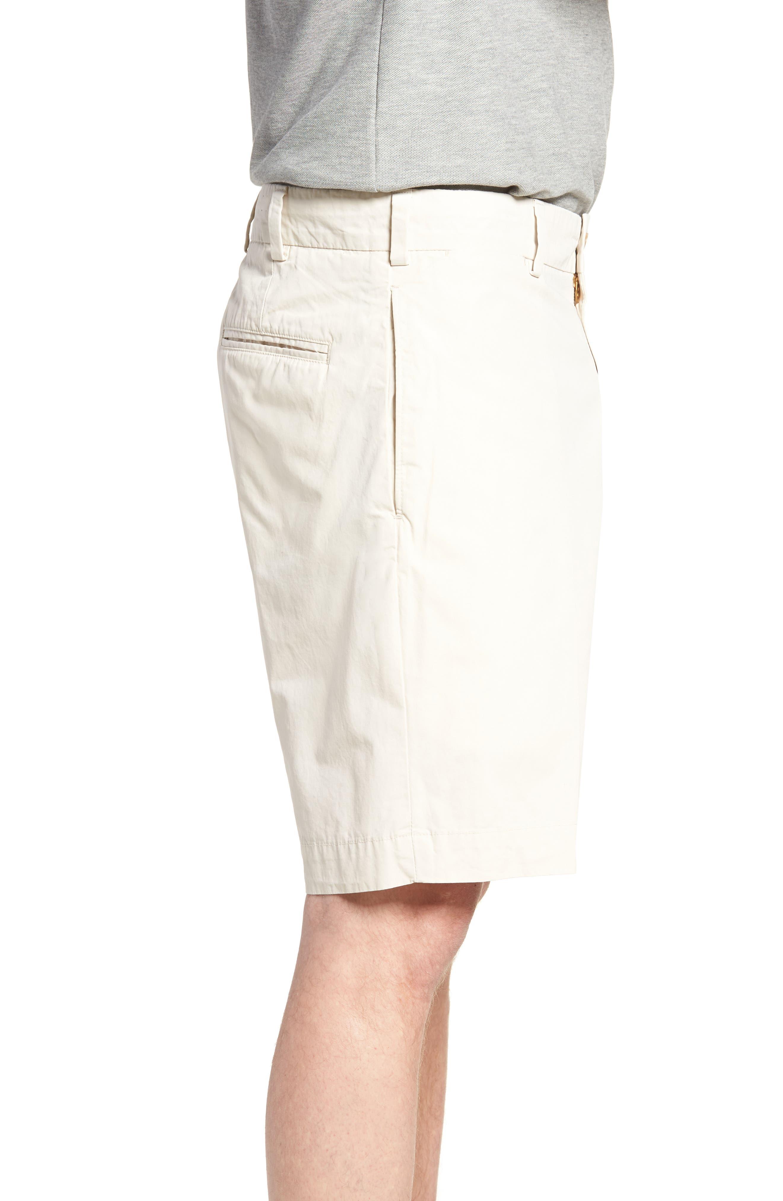 M2 Standard Fit Flat Front Tropical Cotton Poplin Shorts,                             Alternate thumbnail 3, color,                             280
