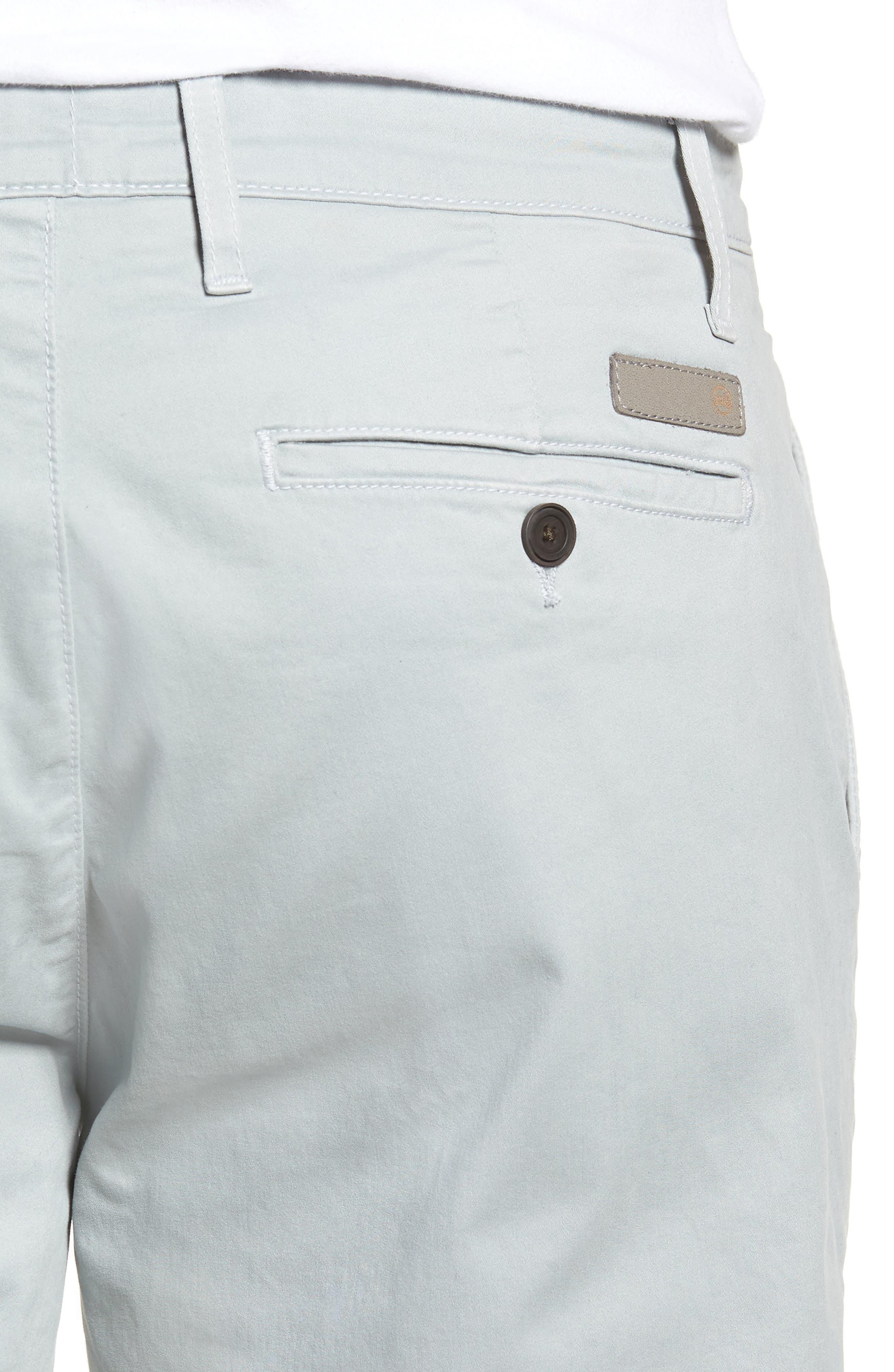 Wanderer Modern Slim Fit Shorts,                             Alternate thumbnail 4, color,                             MORNING MIST